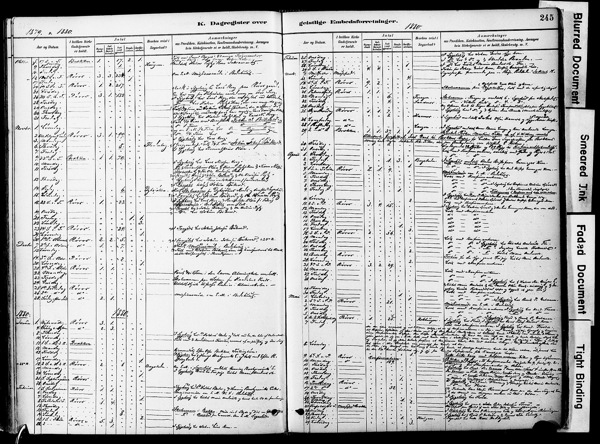 SAT, Ministerialprotokoller, klokkerbøker og fødselsregistre - Sør-Trøndelag, 681/L0933: Ministerialbok nr. 681A11, 1879-1890, s. 245