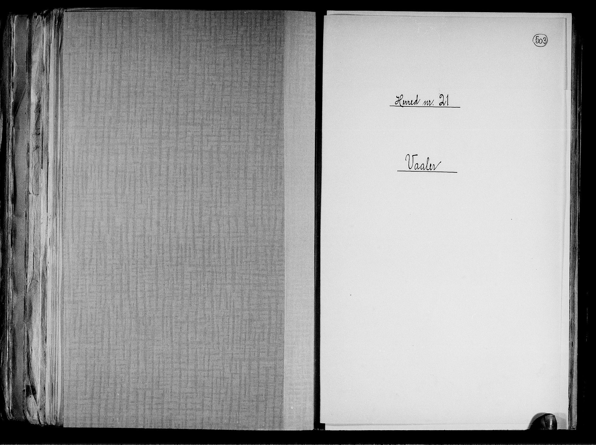RA, Folketelling 1891 for 0137 Våler herred, 1891, s. 1