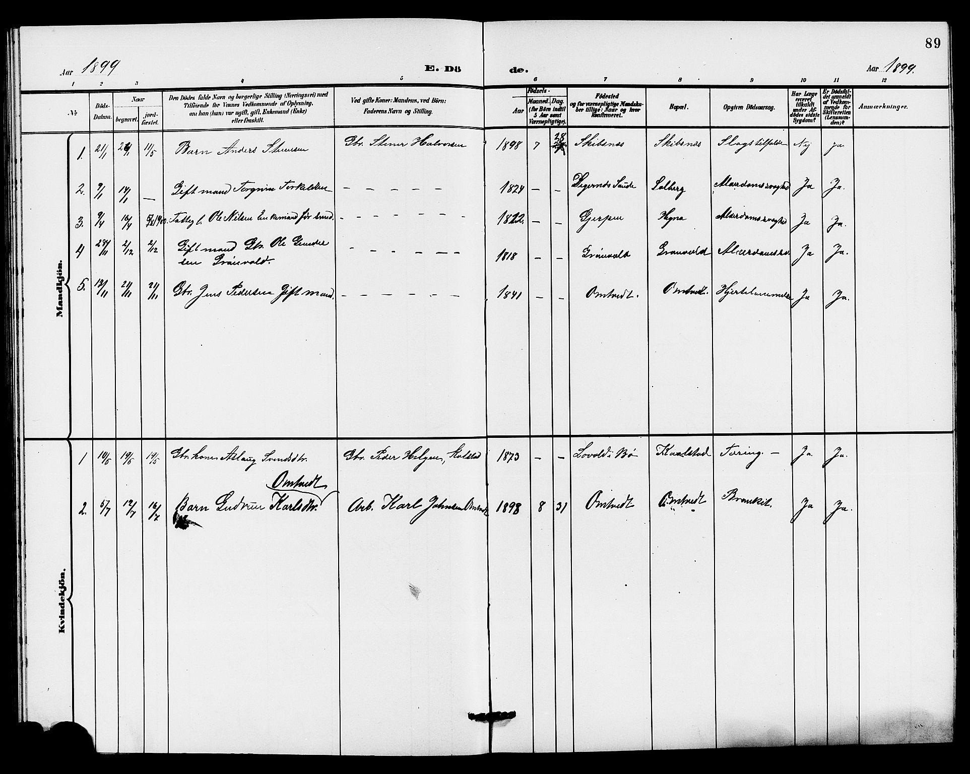 SAKO, Holla kirkebøker, G/Gb/L0002: Klokkerbok nr. II 2, 1897-1913, s. 89