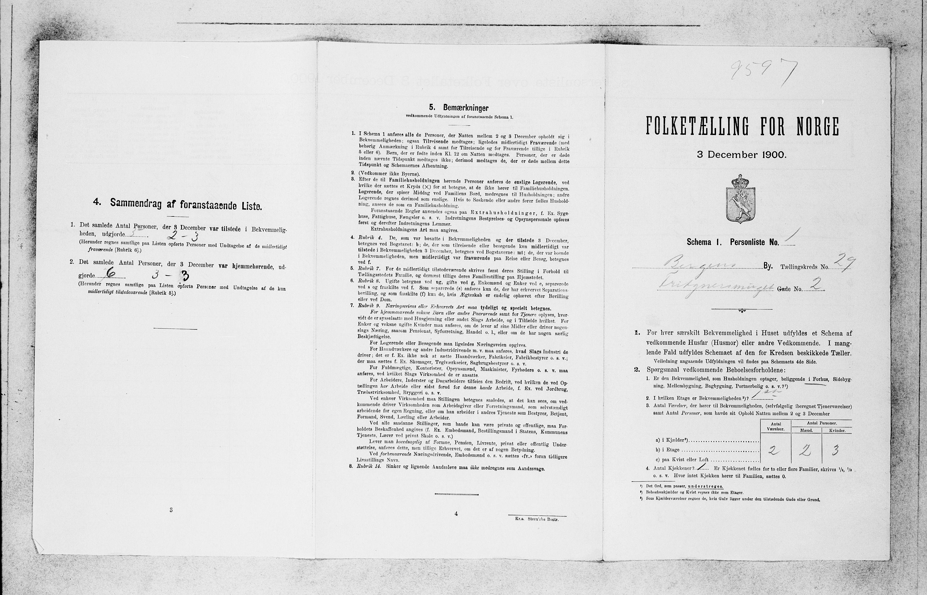 SAB, Folketelling 1900 for 1301 Bergen kjøpstad, 1900, s. 6082