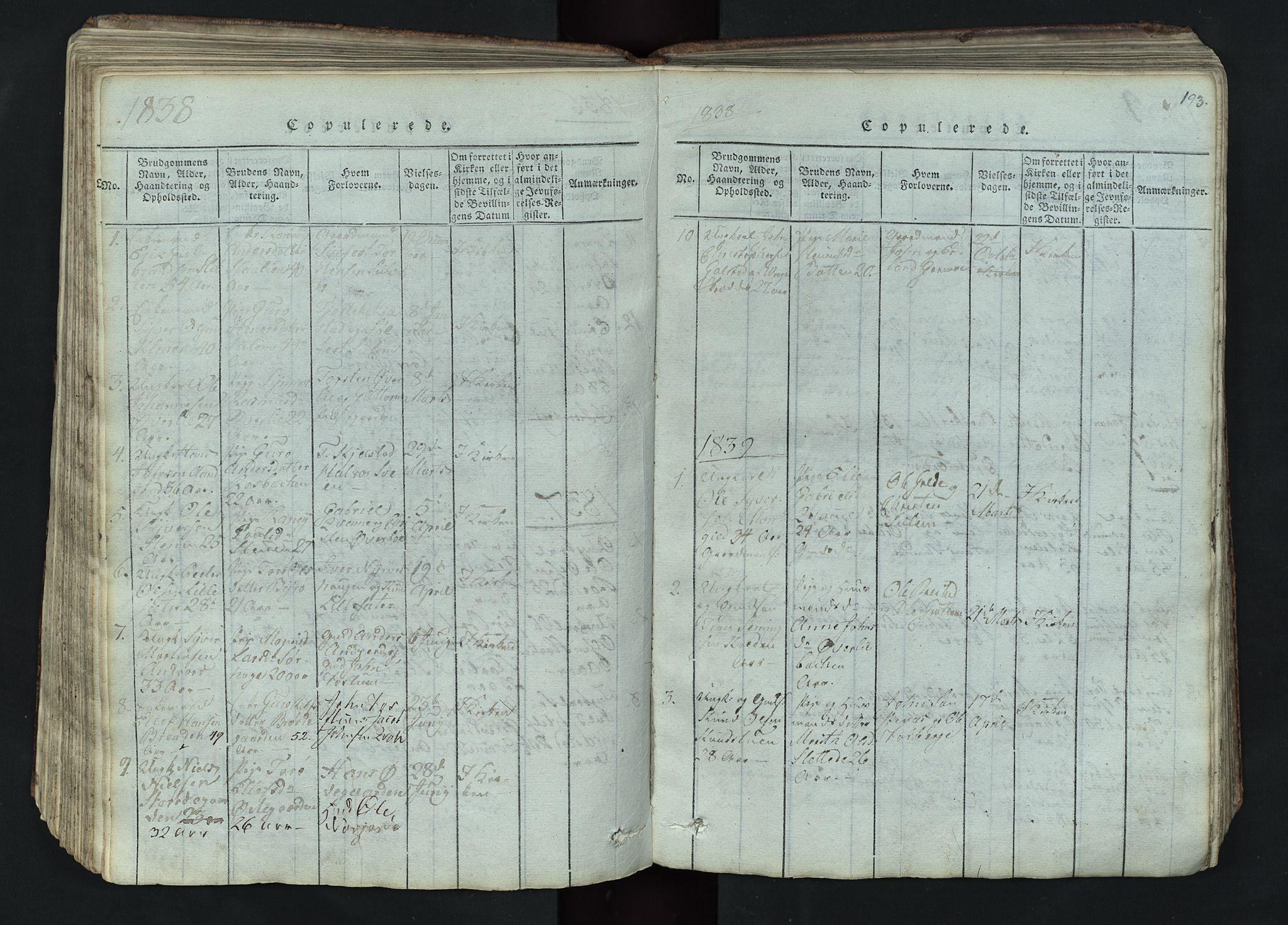 SAH, Lom prestekontor, L/L0002: Klokkerbok nr. 2, 1815-1844, s. 193