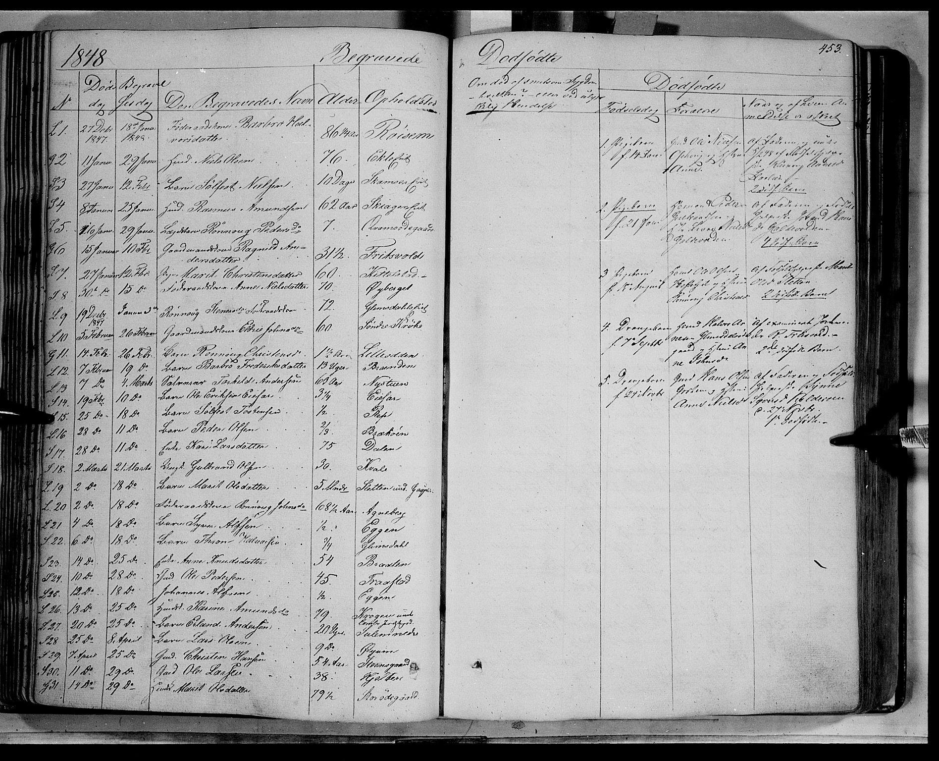 SAH, Lom prestekontor, K/L0006: Ministerialbok nr. 6B, 1837-1863, s. 453