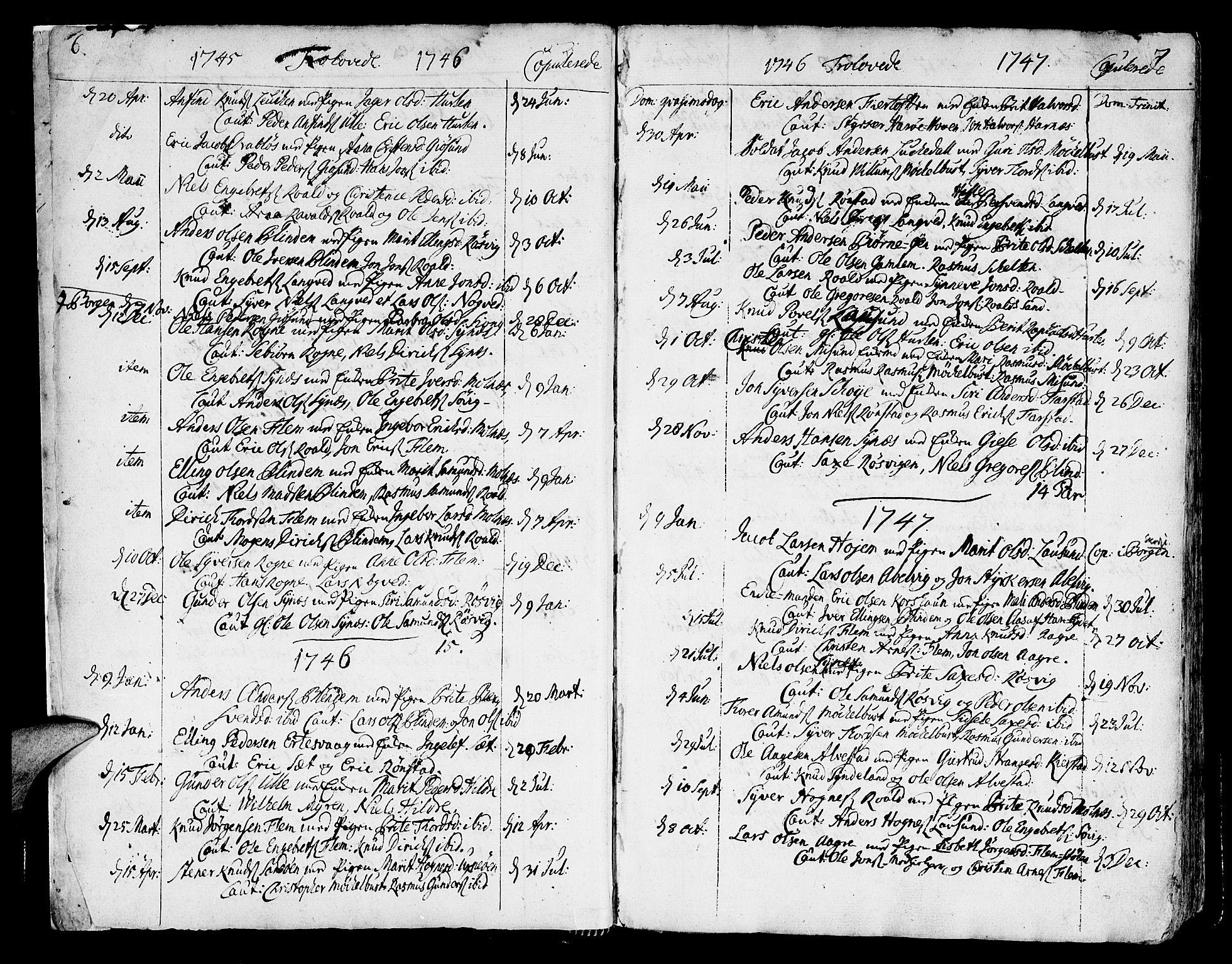 SAT, Ministerialprotokoller, klokkerbøker og fødselsregistre - Møre og Romsdal, 536/L0493: Ministerialbok nr. 536A02, 1739-1802, s. 6-7