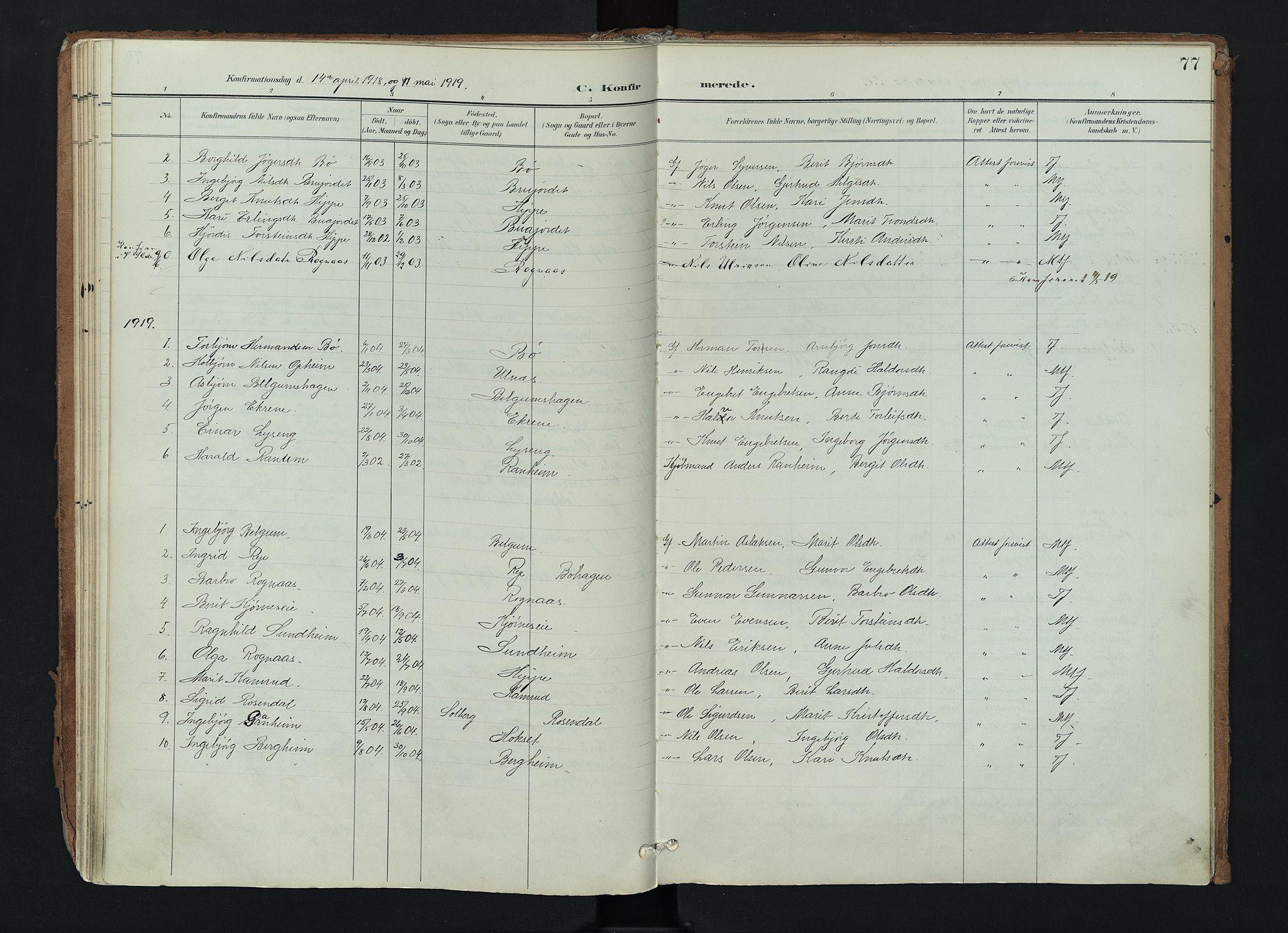 SAH, Nord-Aurdal prestekontor, Ministerialbok nr. 17, 1897-1926, s. 77