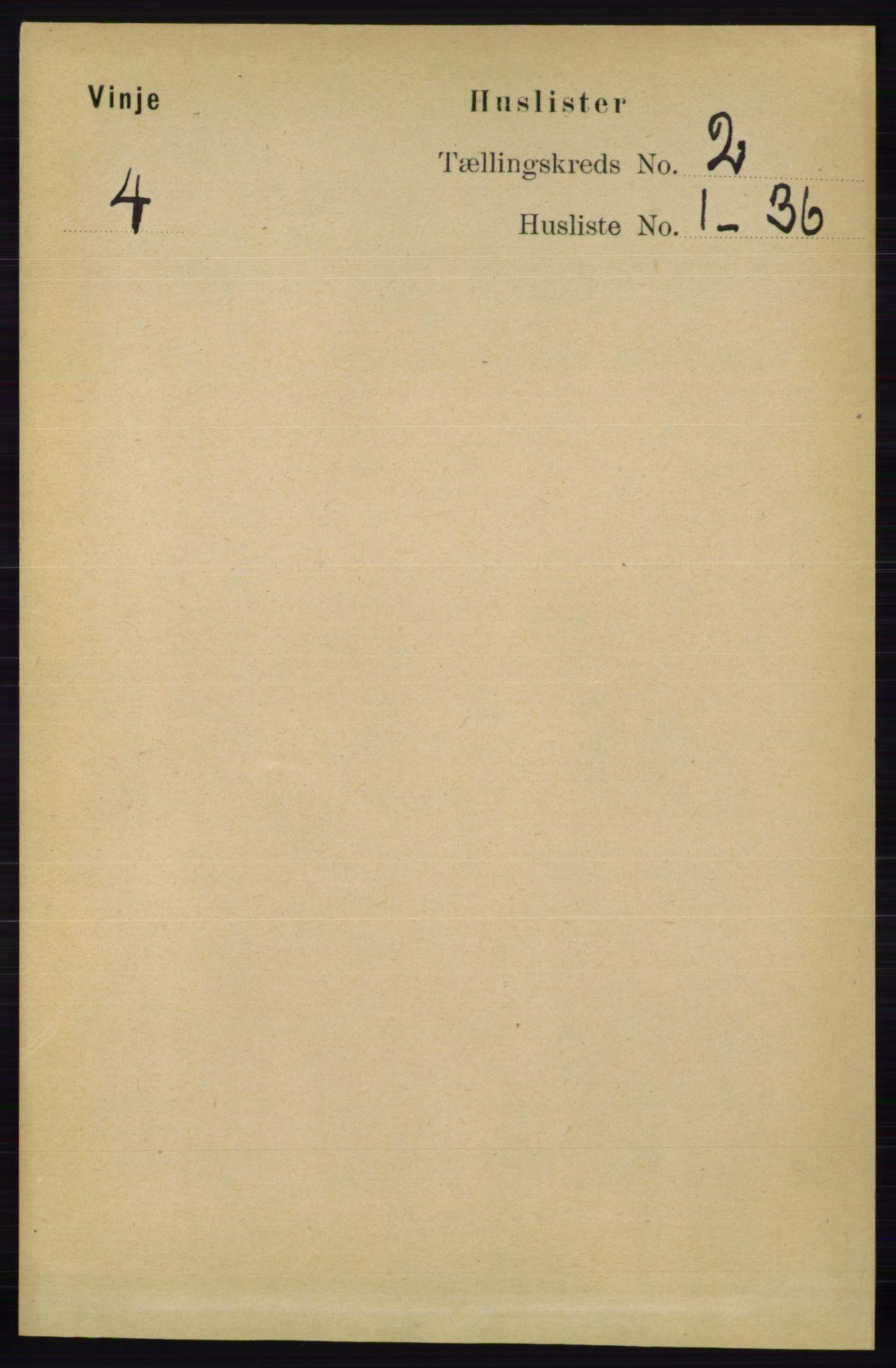 RA, Folketelling 1891 for 0834 Vinje herred, 1891, s. 317