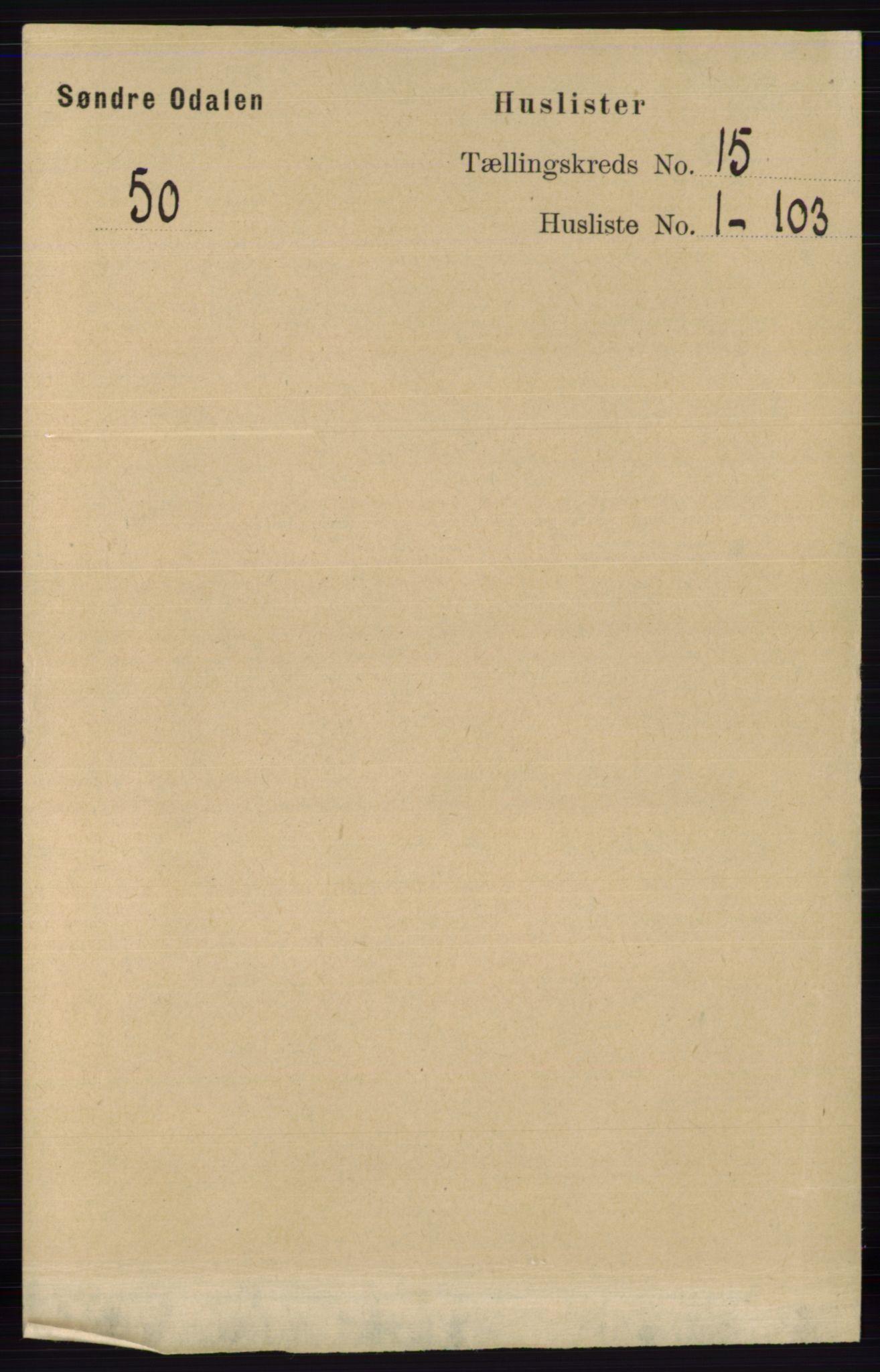 RA, Folketelling 1891 for 0419 Sør-Odal herred, 1891, s. 6465