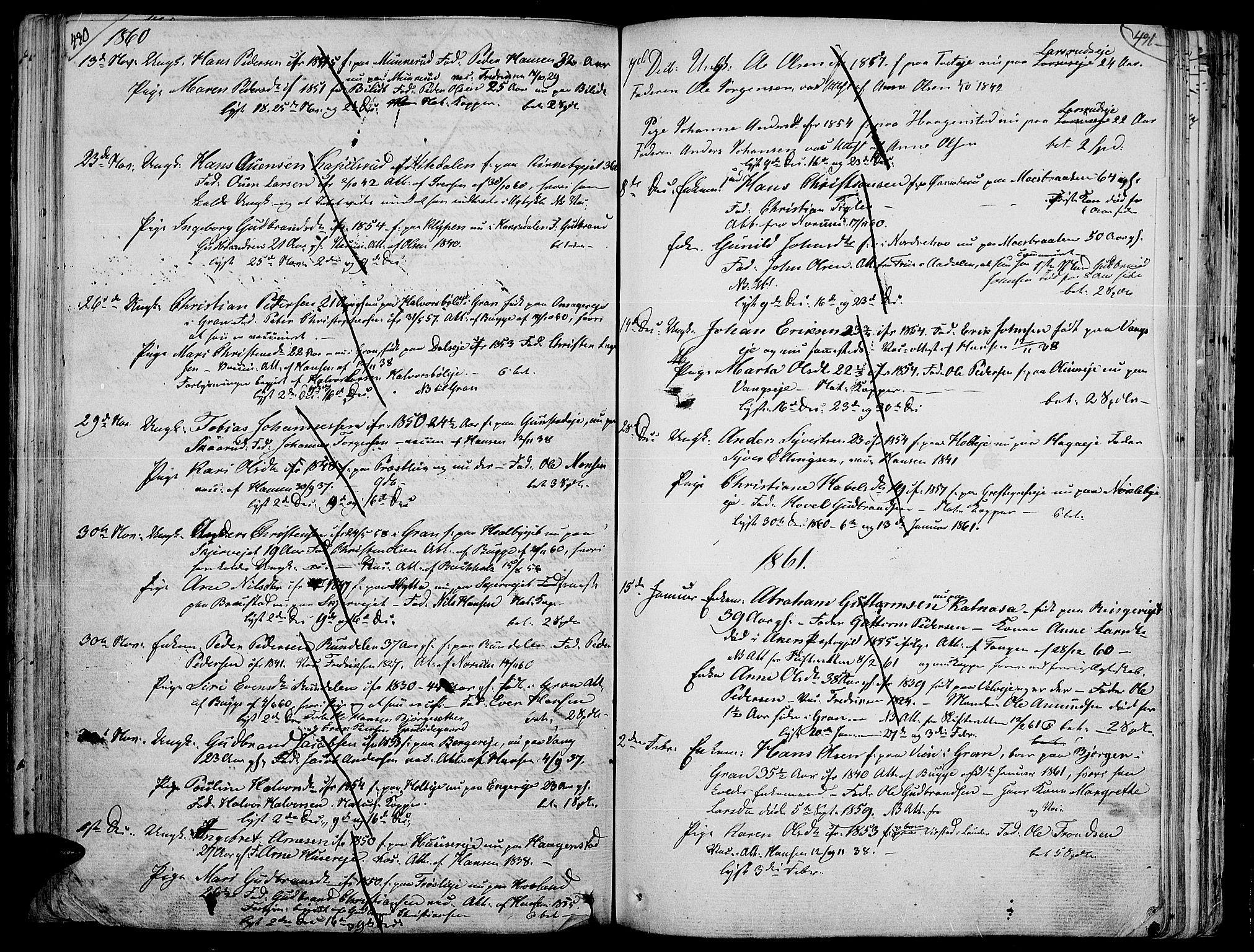 SAH, Jevnaker prestekontor, Ministerialbok nr. 4, 1800-1861, s. 430-431