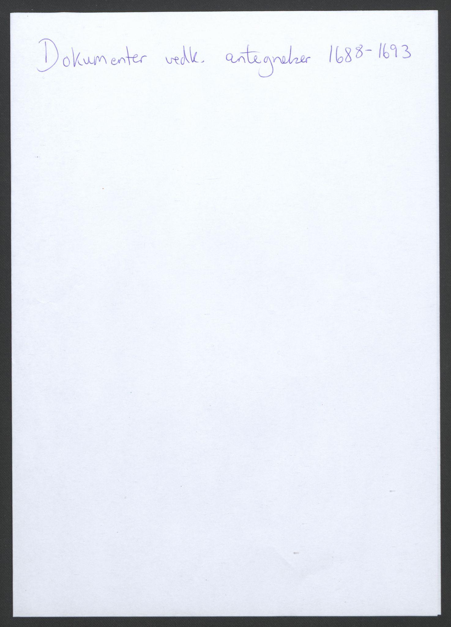 RA, Rentekammeret inntil 1814, Reviderte regnskaper, Fogderegnskap, R34/L2053: Fogderegnskap Bamble, 1693, s. 98