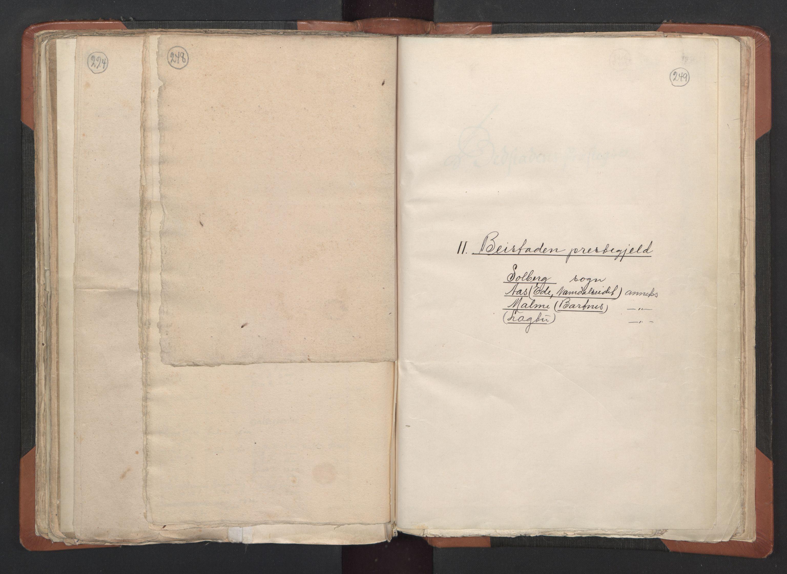 RA, Sogneprestenes manntall 1664-1666, nr. 33: Innherad prosti, 1664-1666, s. 248-249