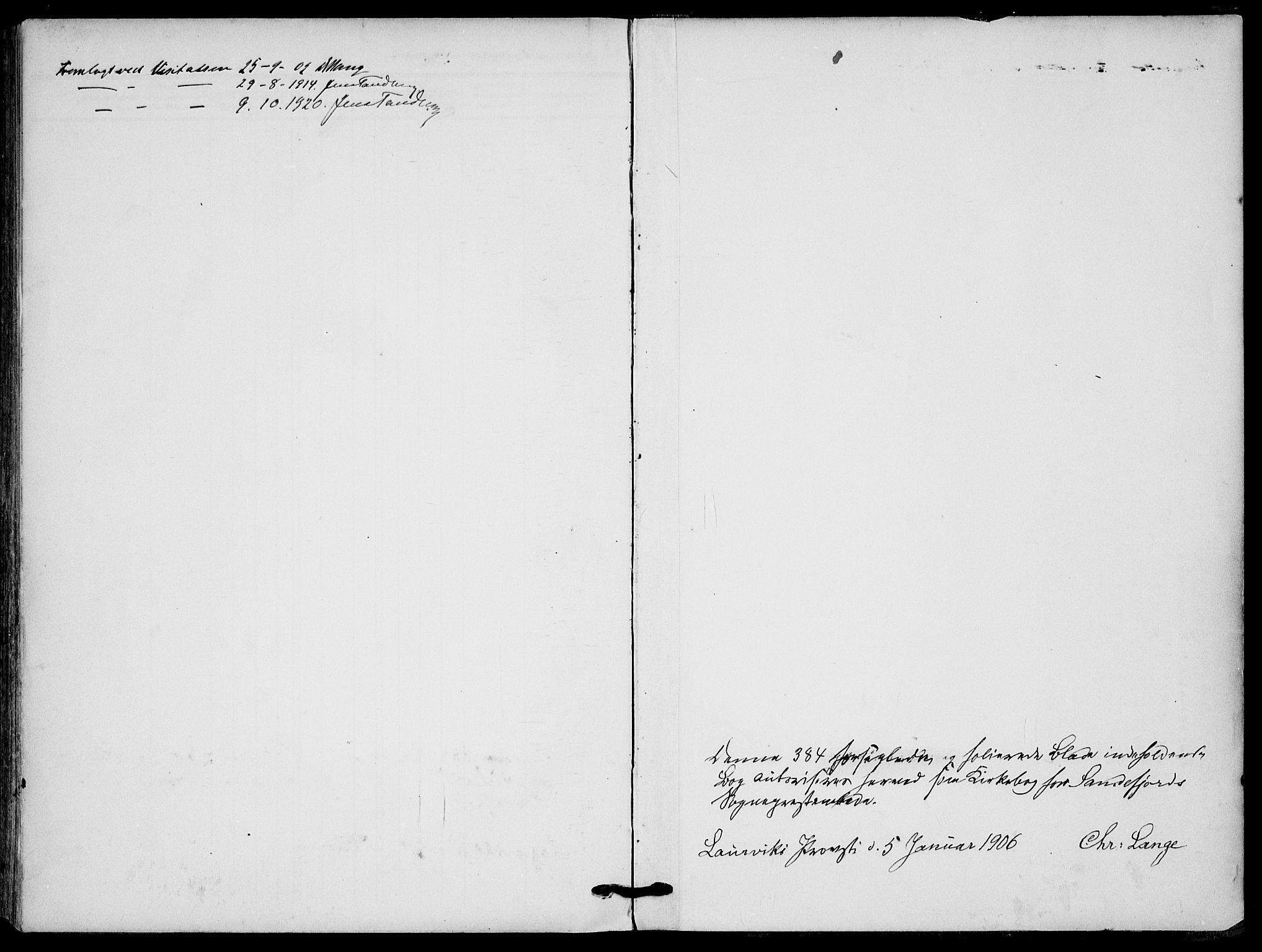 SAKO, Sandefjord kirkebøker, F/Fa/L0005: Ministerialbok nr. 5, 1906-1915