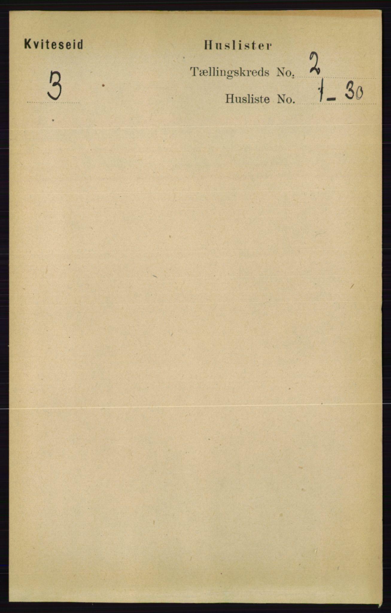 RA, Folketelling 1891 for 0829 Kviteseid herred, 1891, s. 258