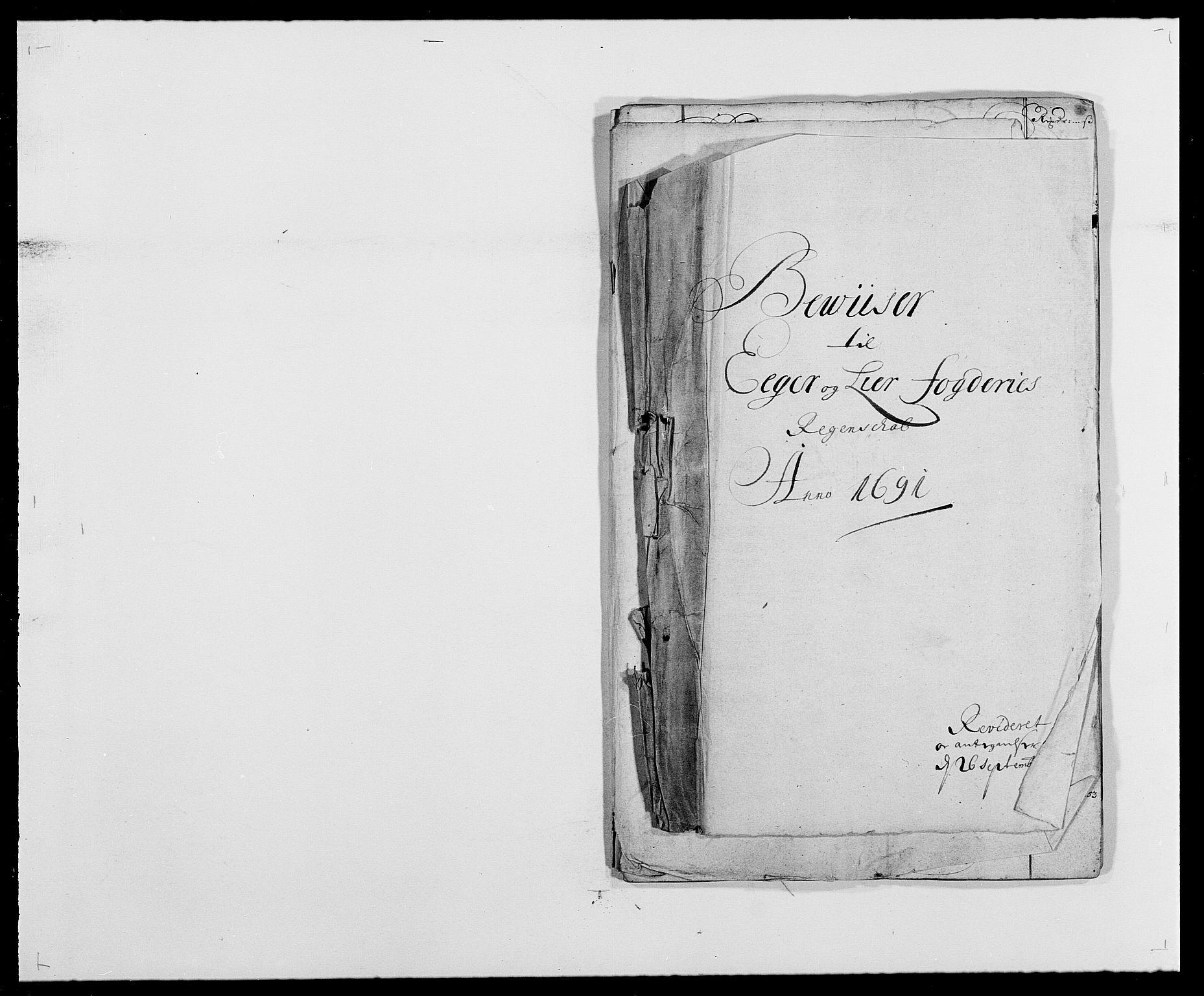 RA, Rentekammeret inntil 1814, Reviderte regnskaper, Fogderegnskap, R28/L1689: Fogderegnskap Eiker og Lier, 1690-1691, s. 354