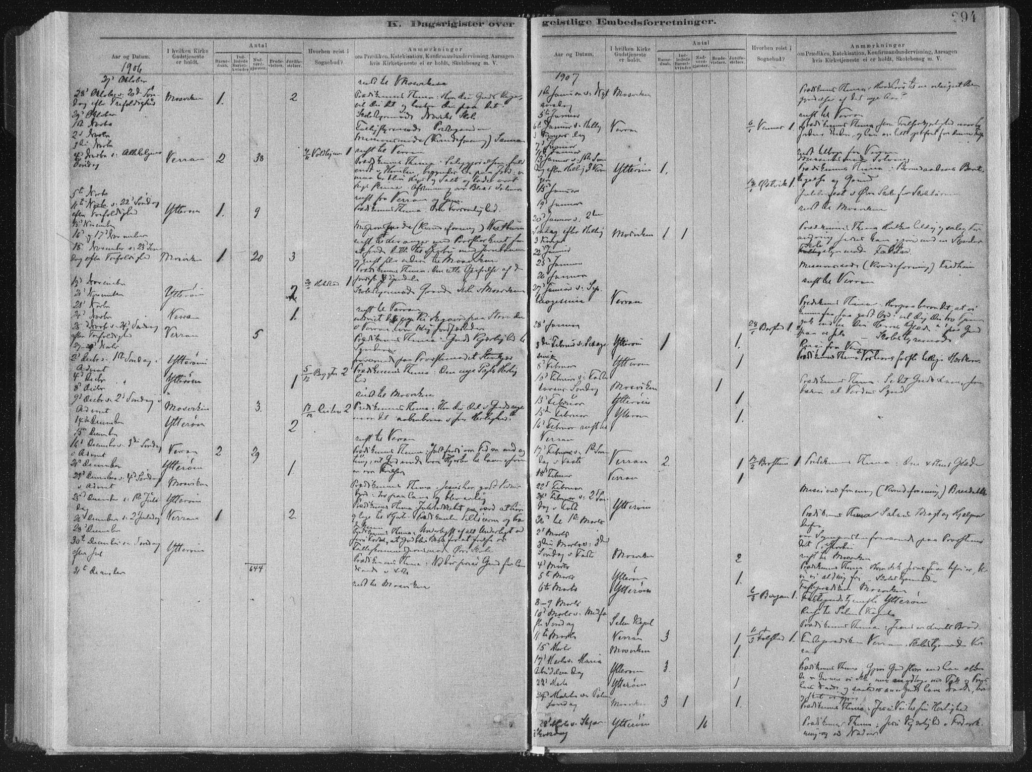 SAT, Ministerialprotokoller, klokkerbøker og fødselsregistre - Nord-Trøndelag, 722/L0220: Ministerialbok nr. 722A07, 1881-1908, s. 294