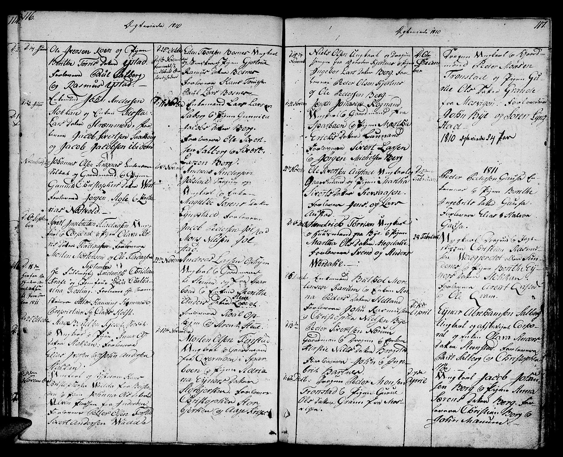 SAT, Ministerialprotokoller, klokkerbøker og fødselsregistre - Nord-Trøndelag, 730/L0274: Ministerialbok nr. 730A03, 1802-1816, s. 116-117