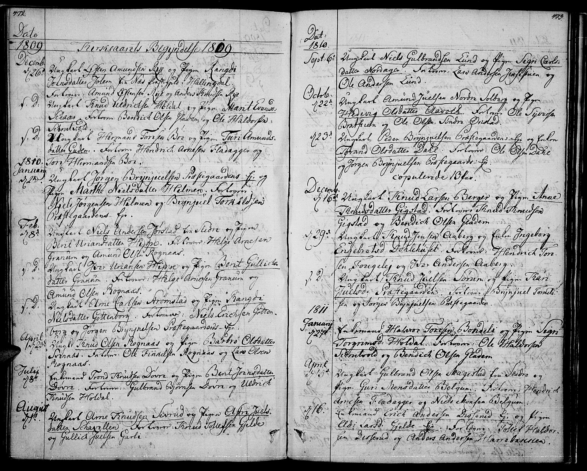 SAH, Nord-Aurdal prestekontor, Ministerialbok nr. 1, 1808-1815, s. 472-473