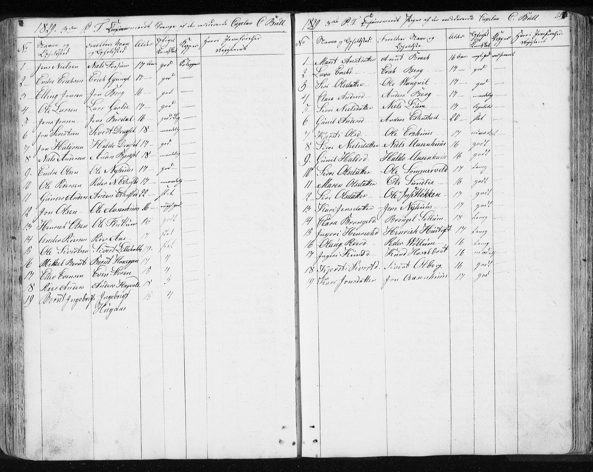 SAT, Ministerialprotokoller, klokkerbøker og fødselsregistre - Sør-Trøndelag, 689/L1043: Klokkerbok nr. 689C02, 1816-1892, s. 256