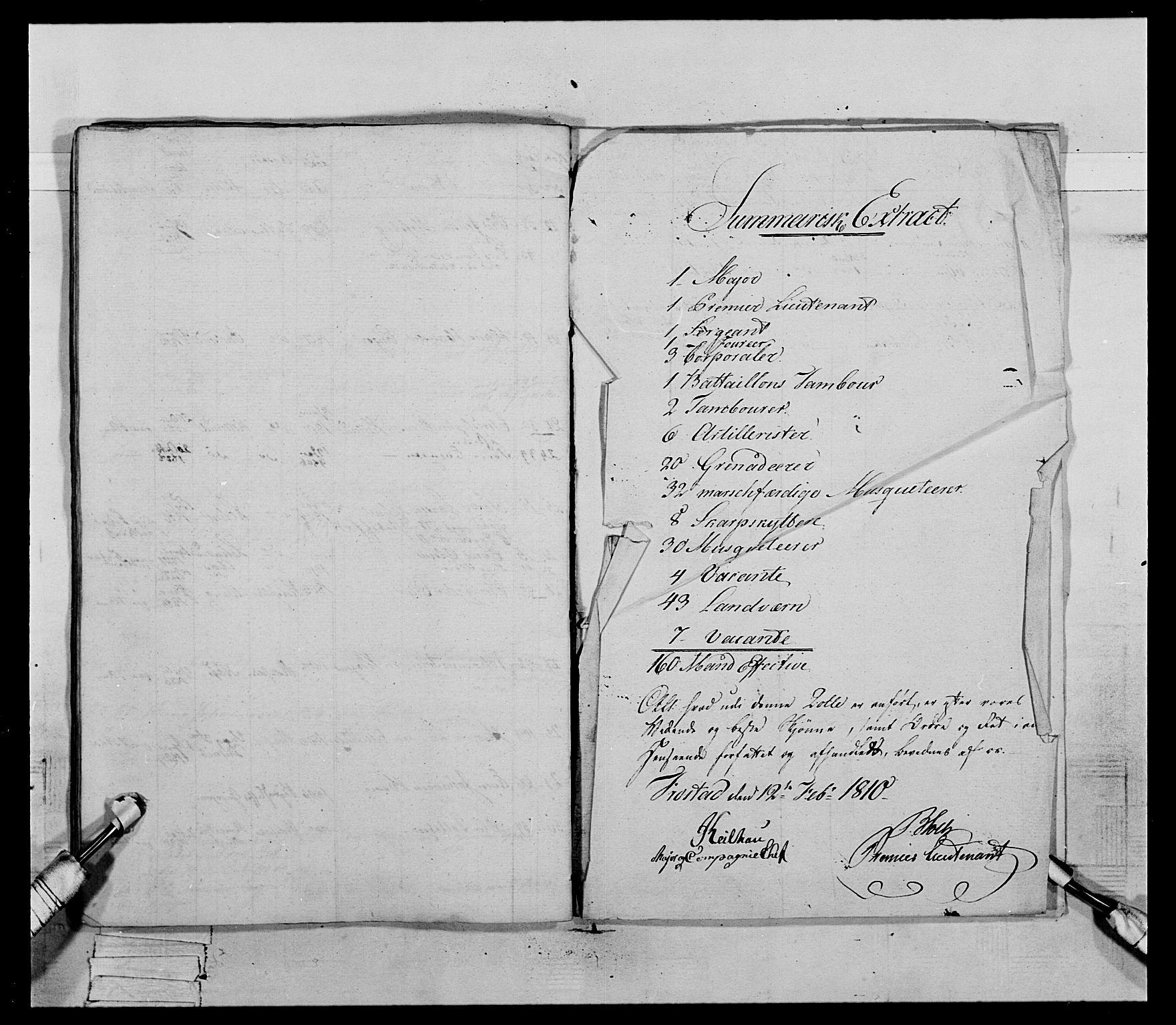 RA, Generalitets- og kommissariatskollegiet, Det kongelige norske kommissariatskollegium, E/Eh/L0069: Opplandske gevorbne infanteriregiment, 1810-1818, s. 780