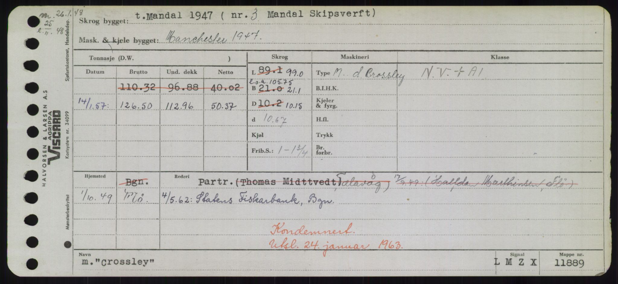 RA, Sjøfartsdirektoratet med forløpere, Skipsmålingen, H/Hd/L0008: Fartøy, C-D, s. 265