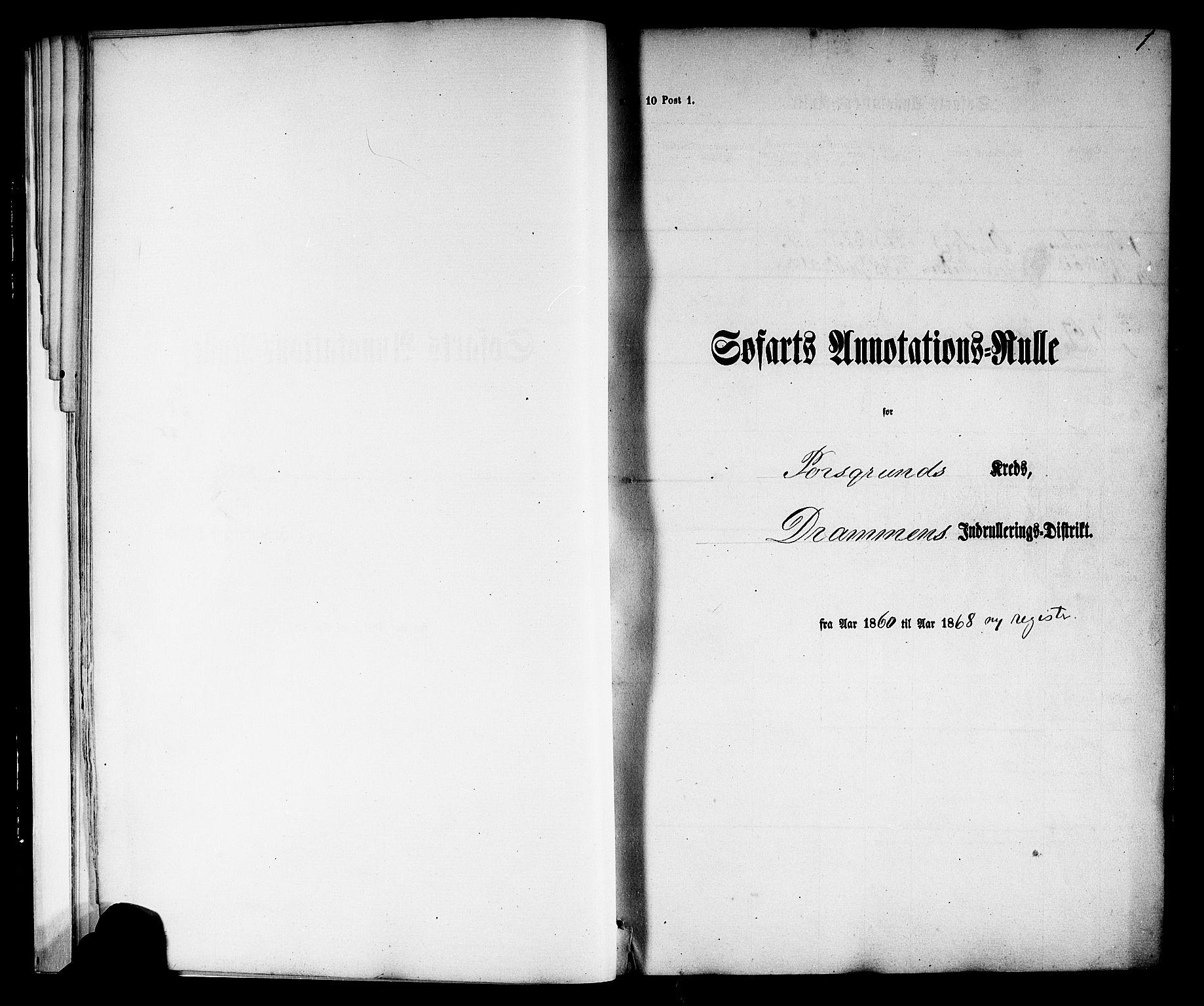 SAKO, Porsgrunn innrulleringskontor, F/Fb/L0001: Annotasjonsrulle, 1860-1868, s. 29