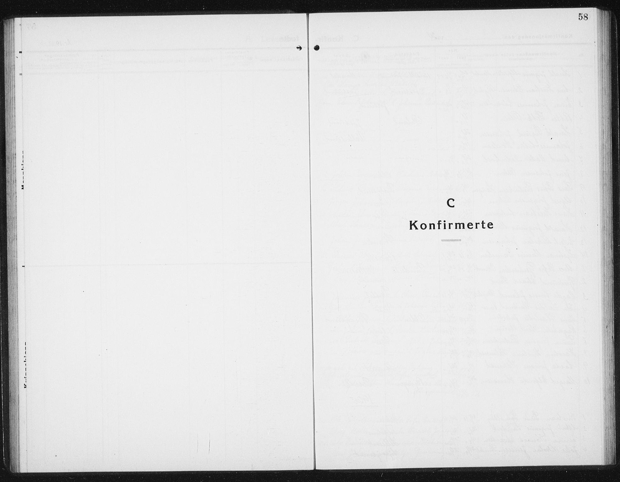 SAT, Ministerialprotokoller, klokkerbøker og fødselsregistre - Sør-Trøndelag, 654/L0667: Klokkerbok nr. 654C03, 1924-1939, s. 58