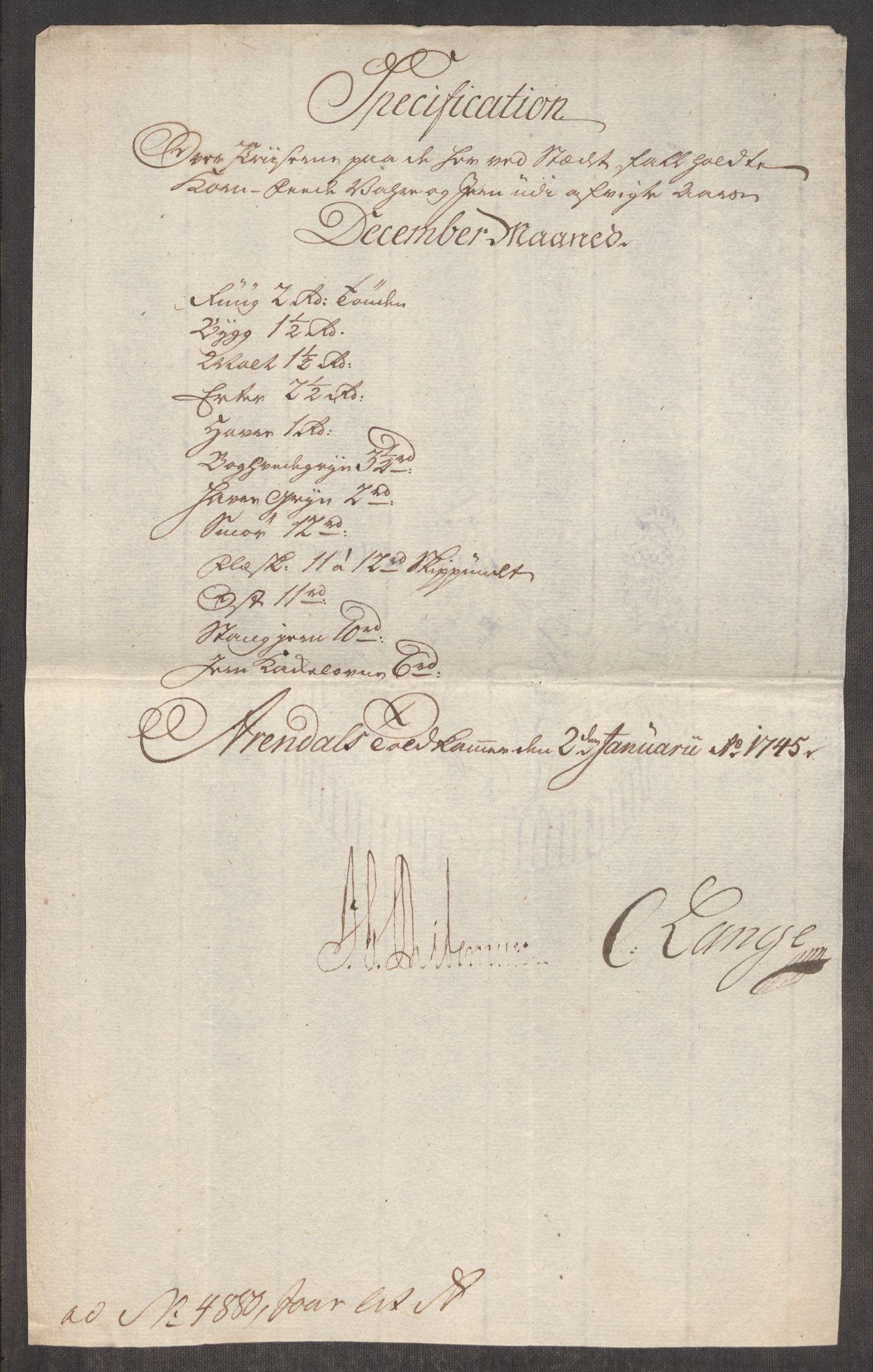 RA, Rentekammeret inntil 1814, Realistisk ordnet avdeling, Oe/L0003: [Ø1]: Priskuranter, 1745-1748, s. 160
