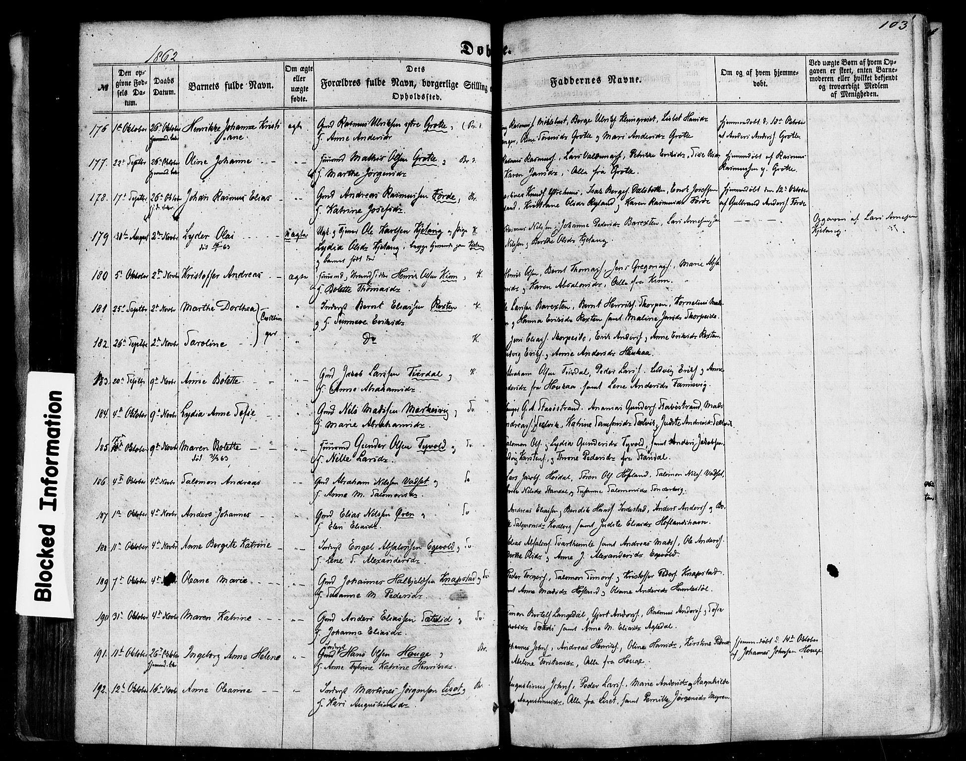 SAB, Kinn Sokneprestembete, Ministerialbok nr. A 6, 1857-1885, s. 103