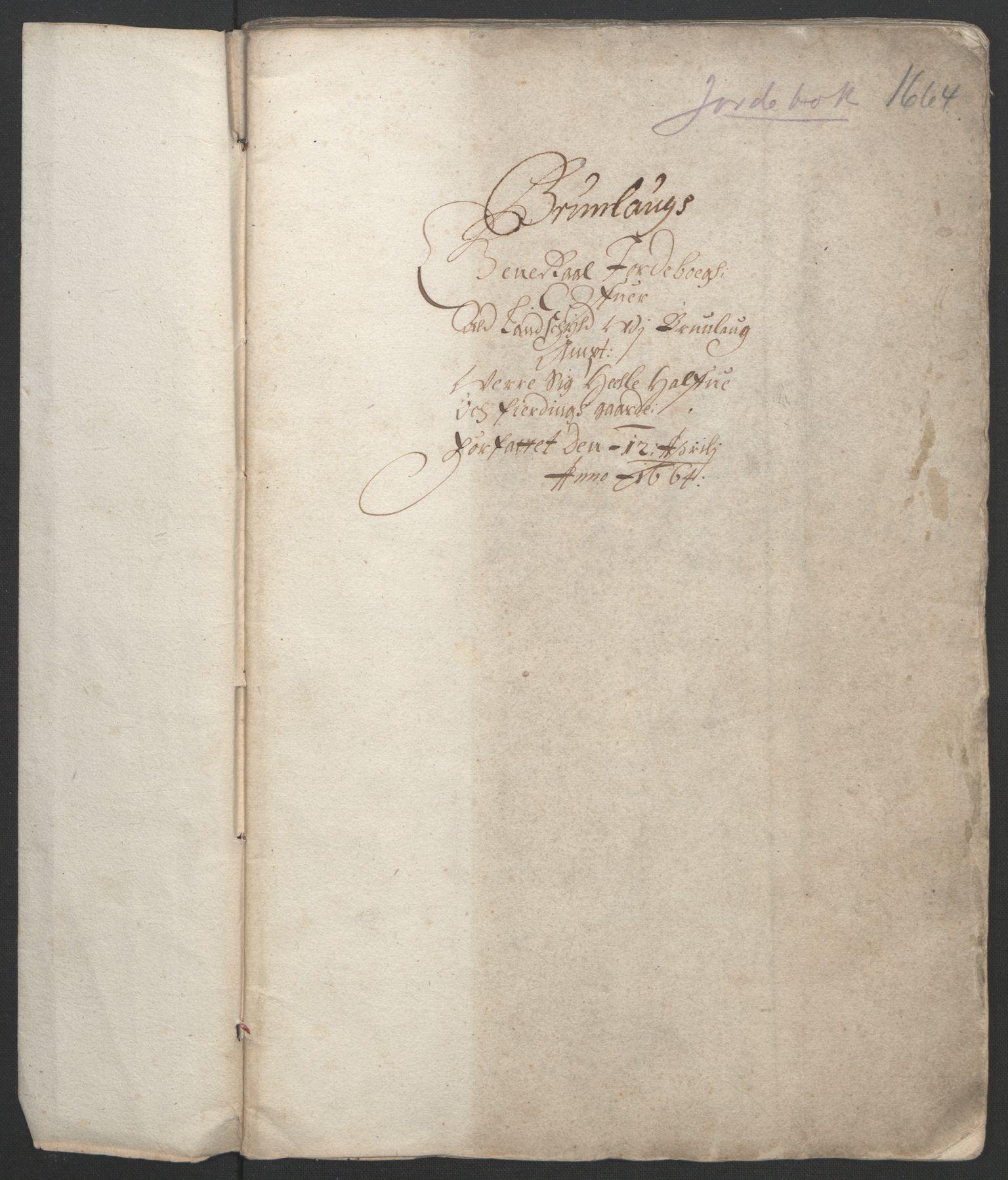 RA, Rentekammeret inntil 1814, Reviderte regnskaper, Fogderegnskap, R33/L1963: Fogderegnskap Larvik grevskap, 1662-1664, s. 279