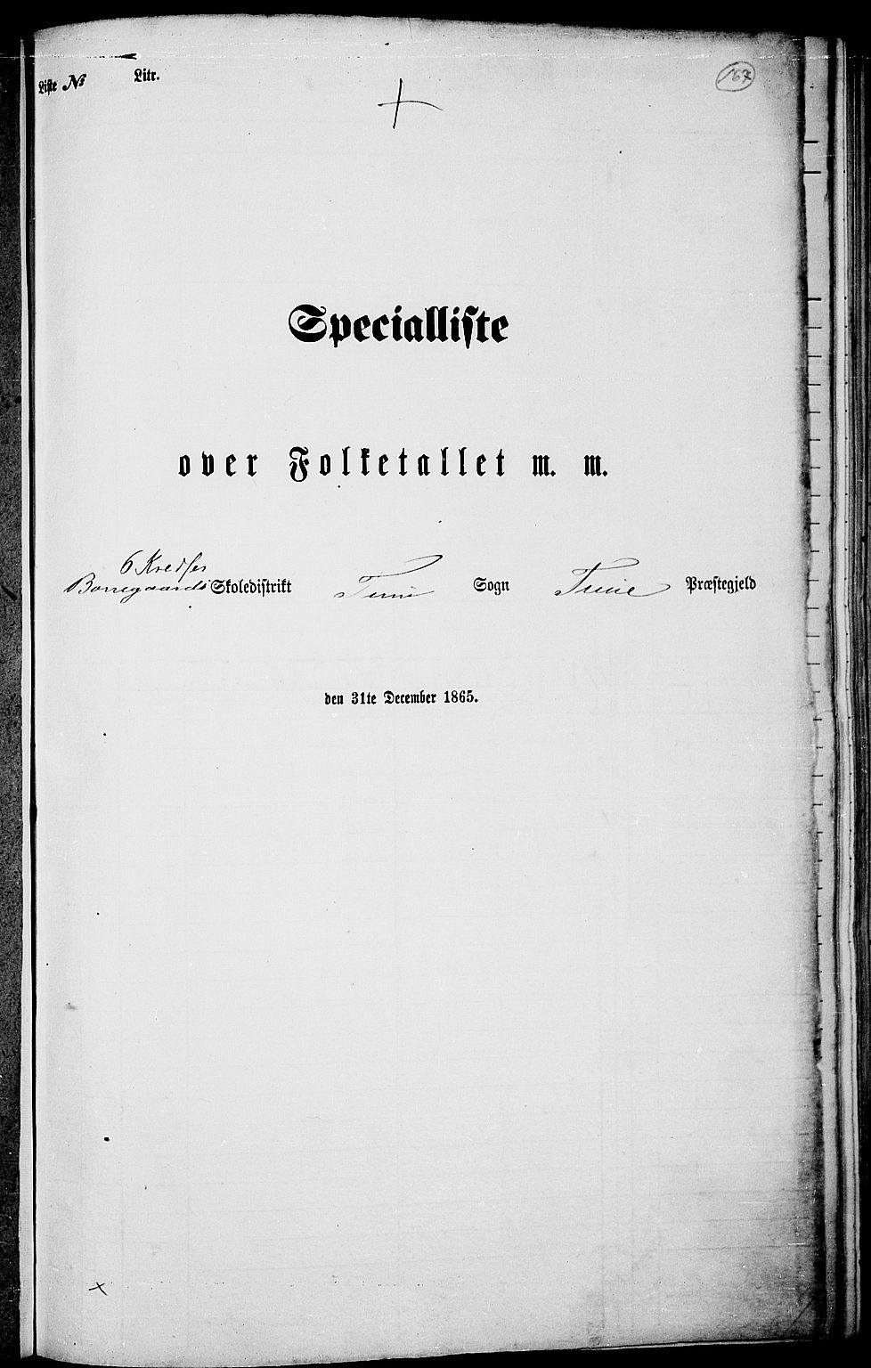 RA, Folketelling 1865 for 0130P Tune prestegjeld, 1865, s. 151