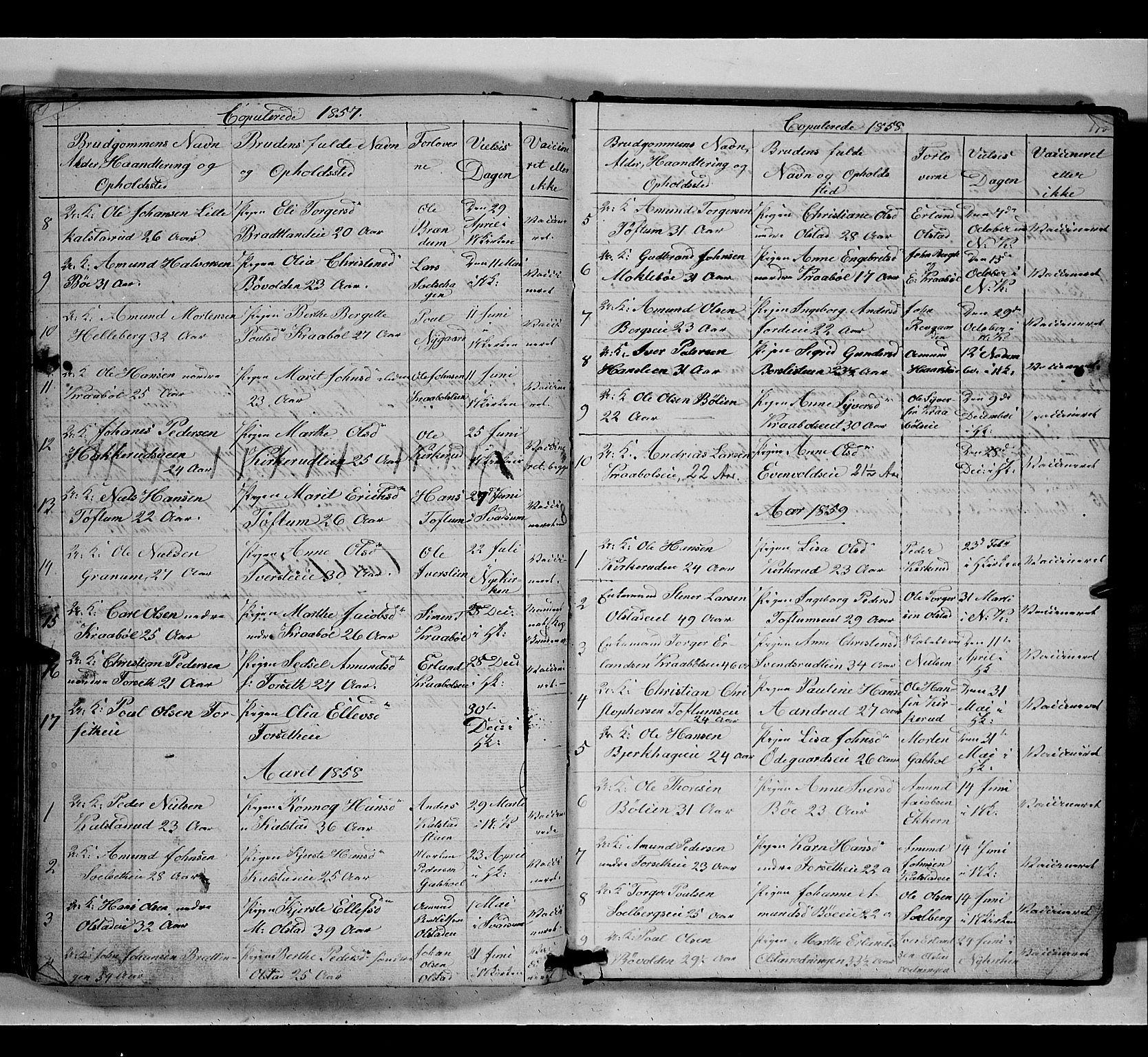 SAH, Gausdal prestekontor, Klokkerbok nr. 5, 1846-1867, s. 178
