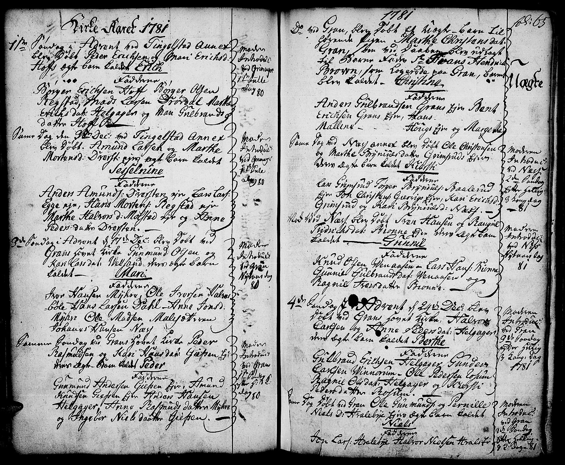 SAH, Gran prestekontor, Ministerialbok nr. 5, 1776-1788, s. 65