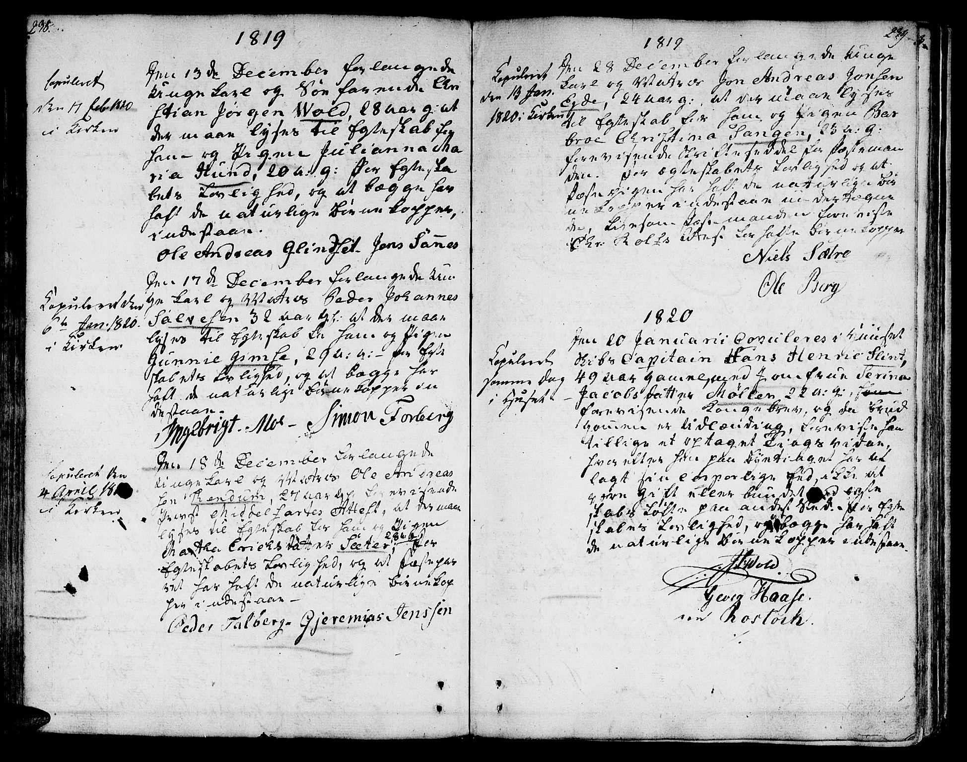 SAT, Ministerialprotokoller, klokkerbøker og fødselsregistre - Sør-Trøndelag, 601/L0042: Ministerialbok nr. 601A10, 1802-1830, s. 238-239