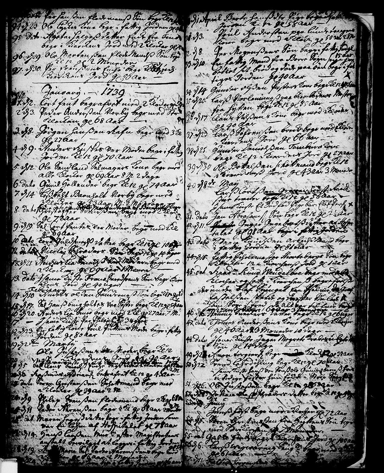 SAKO, Skien kirkebøker, F/Fa/L0002: Ministerialbok nr. 2, 1716-1757, s. 208