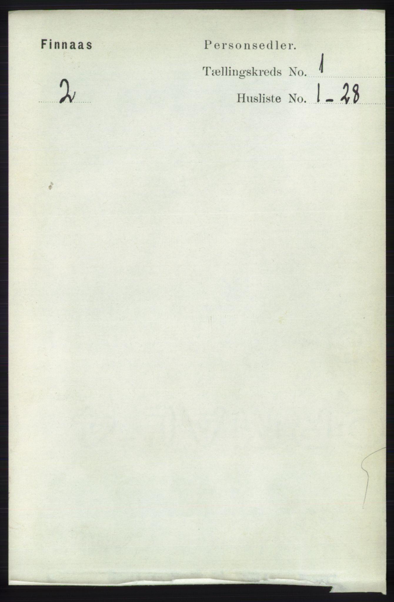RA, Folketelling 1891 for 1218 Finnås herred, 1891, s. 134