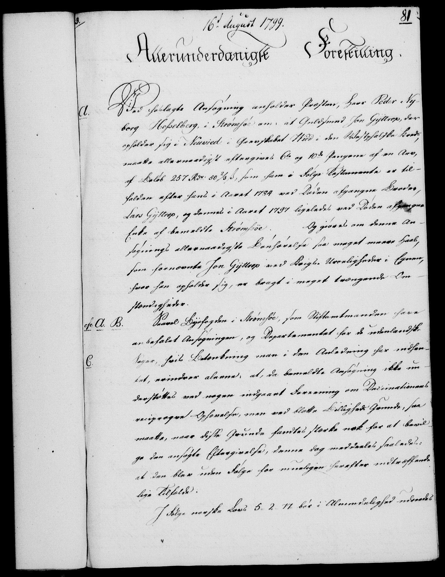 RA, Rentekammeret, Kammerkanselliet, G/Gf/Gfa/L0081: Norsk relasjons- og resolusjonsprotokoll (merket RK 52.81), 1799, s. 500