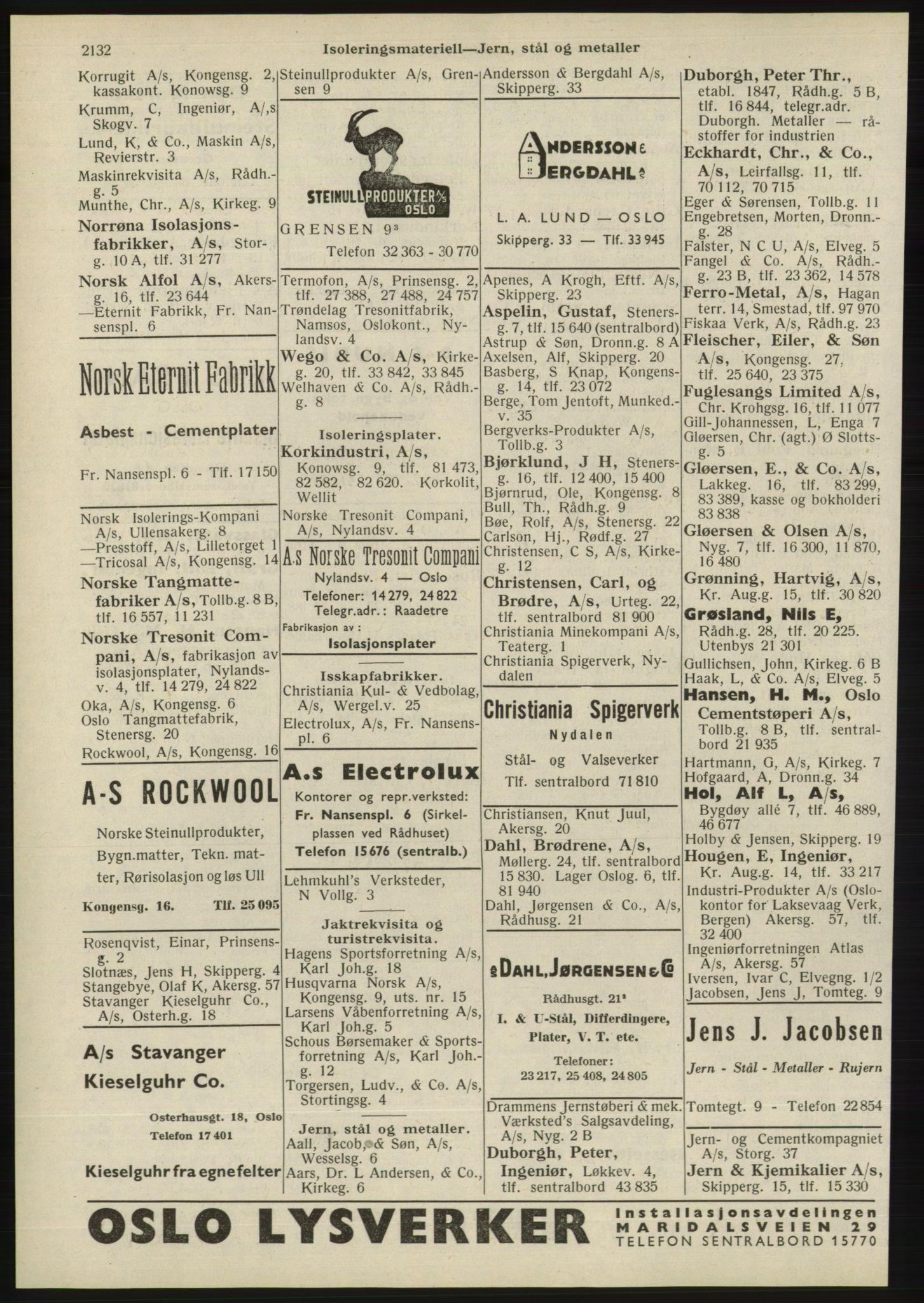 RA, Oslo adressebok (publikasjon)*, 1945, s. 2132