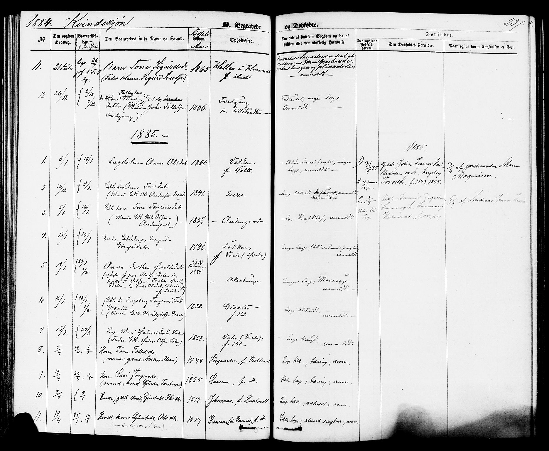 SAKO, Sauherad kirkebøker, F/Fa/L0008: Ministerialbok nr. I 8, 1873-1886, s. 237