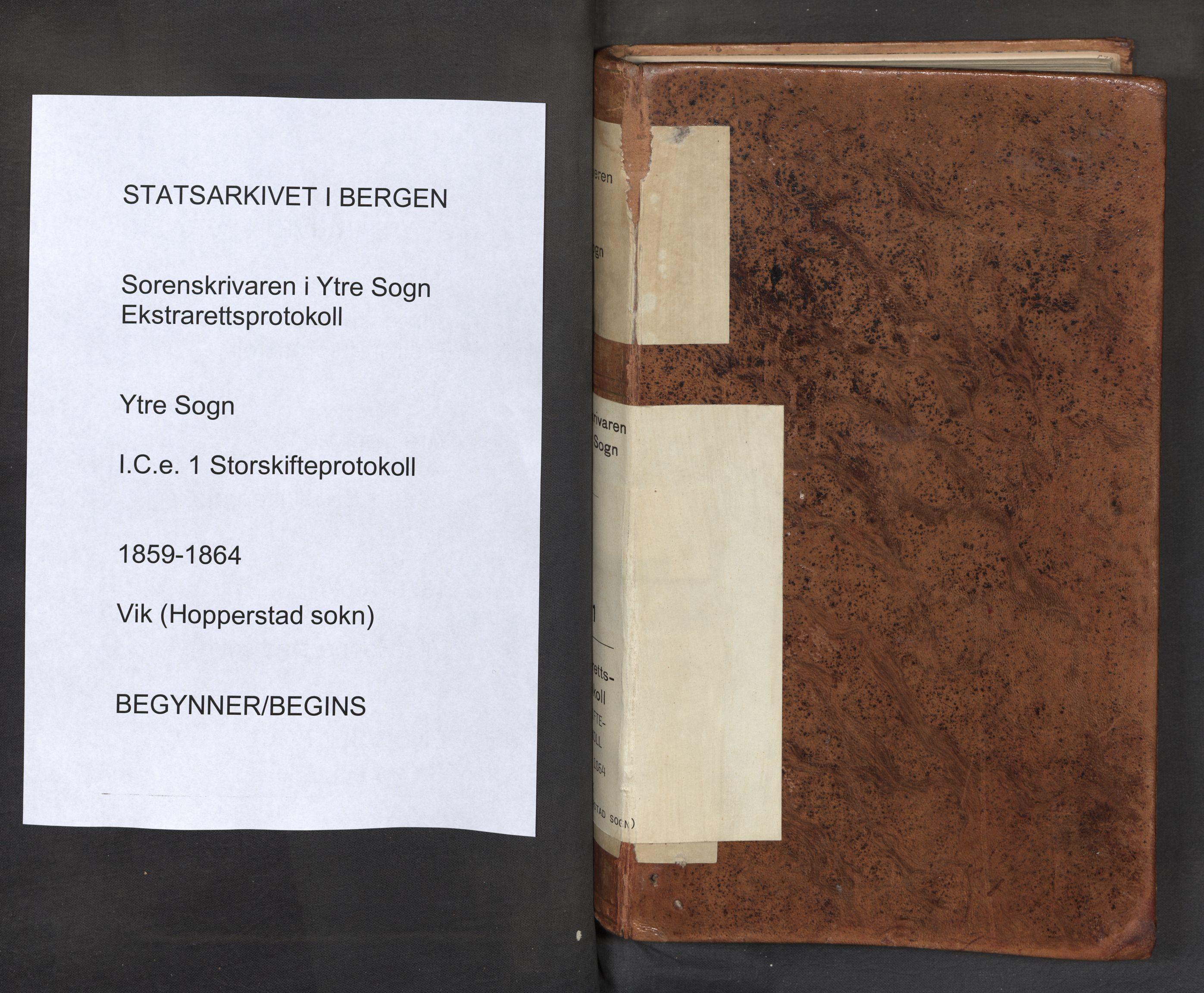SAB, Ytre Sogn tingrett, F/Fce/L0001: Storskifteprotokoll, 1859-1864