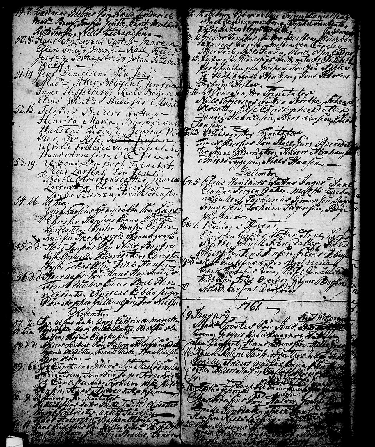 SAKO, Skien kirkebøker, G/Ga/L0001: Klokkerbok nr. 1, 1756-1791, s. 72