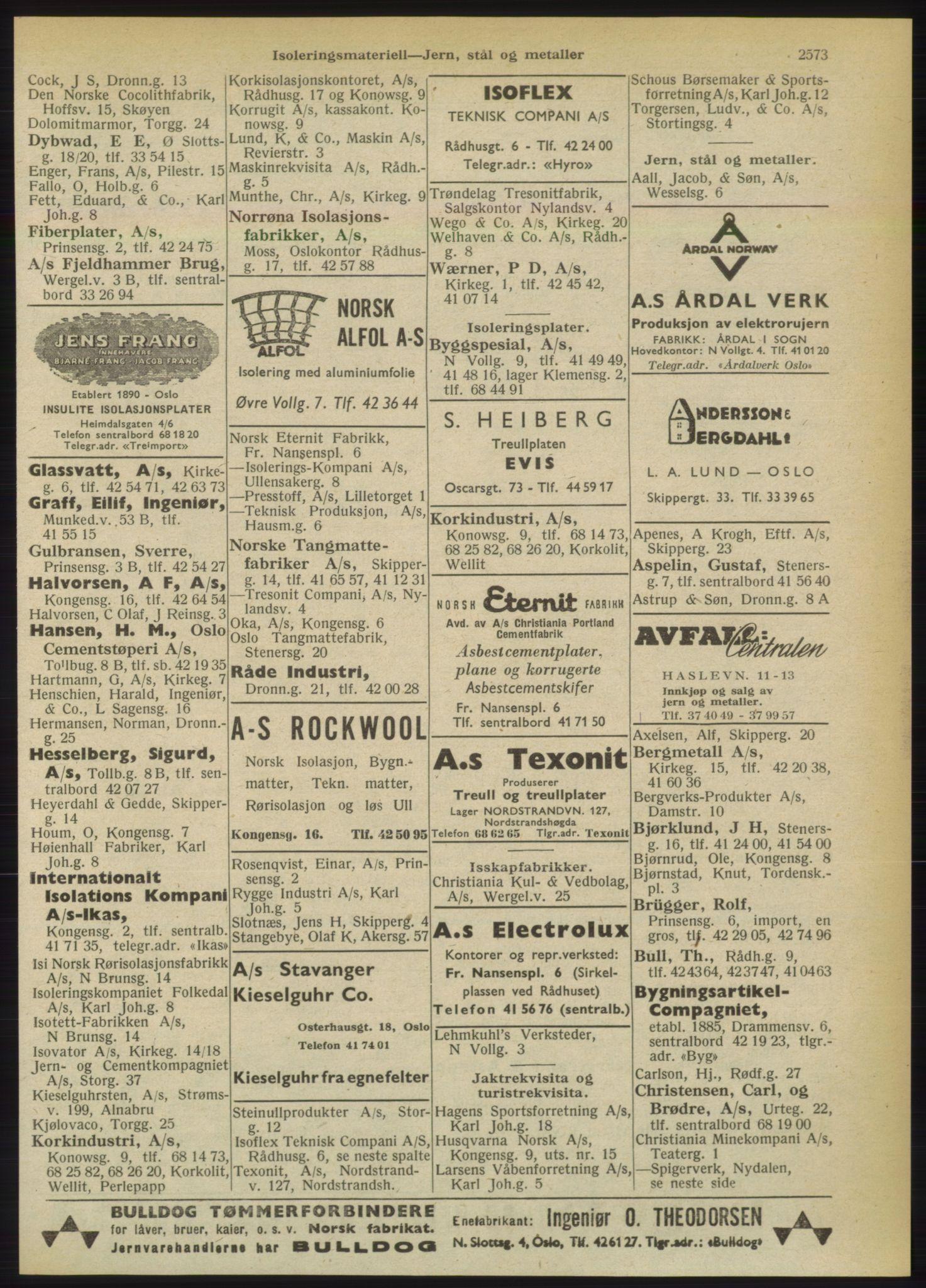 RA, Oslo adressebok (publikasjon)*, 1949, s. 2573