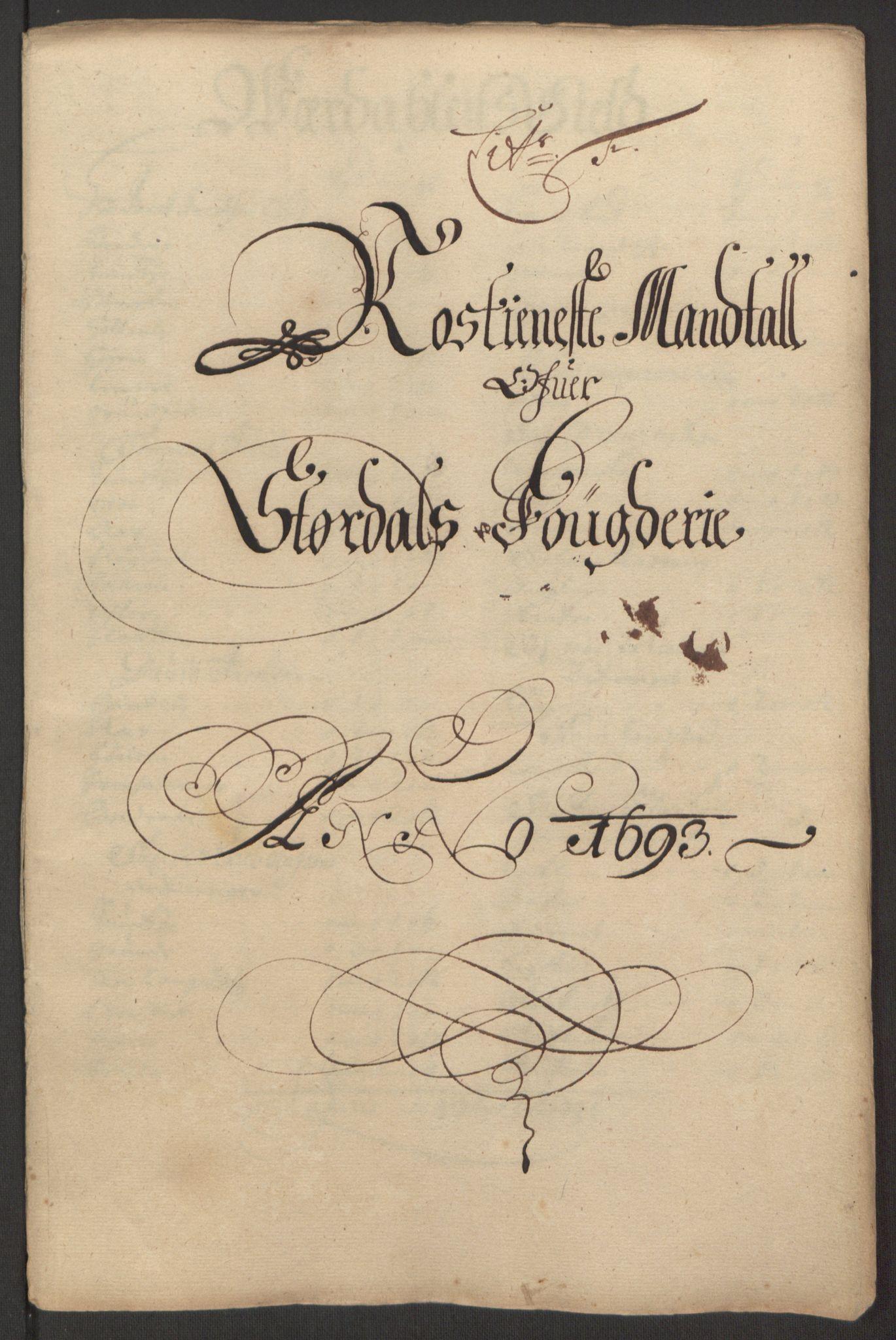 RA, Rentekammeret inntil 1814, Reviderte regnskaper, Fogderegnskap, R62/L4186: Fogderegnskap Stjørdal og Verdal, 1693-1694, s. 77