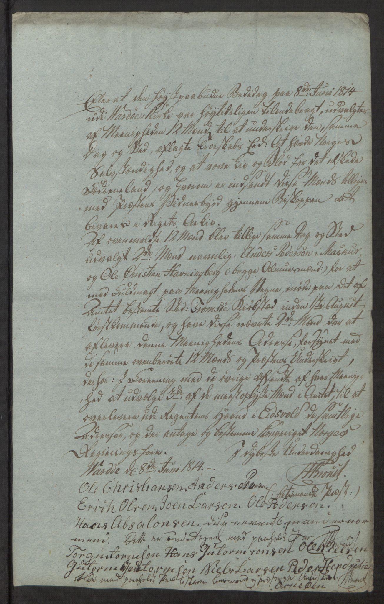 SATØ, Amtmannen/Fylkesmannen i Finnmark*, 1814, s. 58