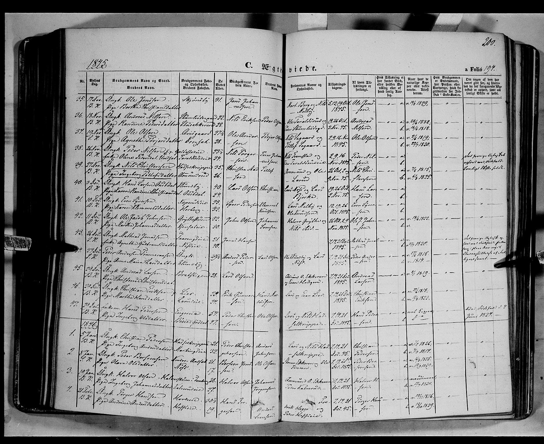 SAH, Biri prestekontor, Ministerialbok nr. 5, 1843-1854, s. 200