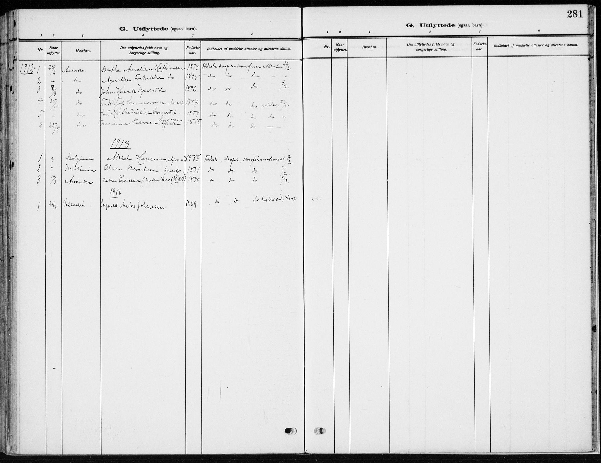 SAH, Vardal prestekontor, H/Ha/Haa/L0014: Ministerialbok nr. 14, 1912-1922, s. 281