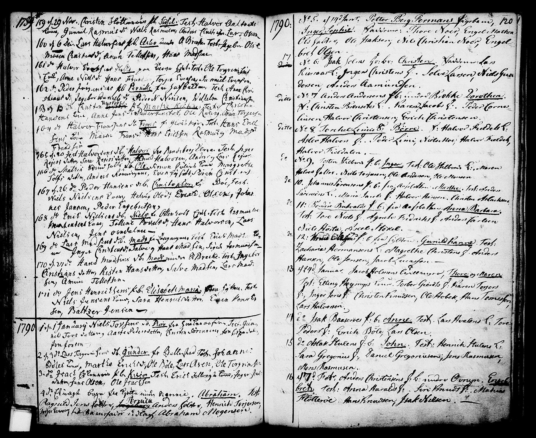 SAKO, Gjerpen kirkebøker, F/Fa/L0002: Ministerialbok nr. 2, 1747-1795, s. 120