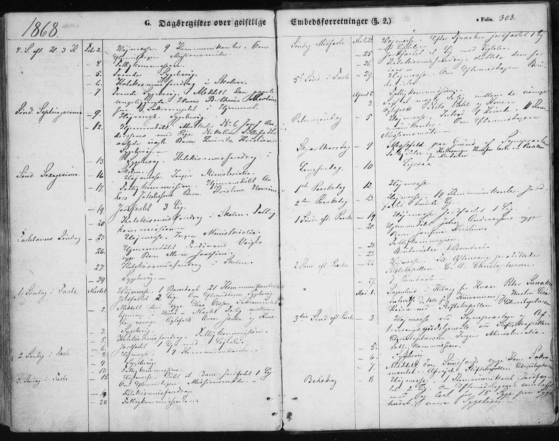 SATØ, Vardø sokneprestkontor, H/Ha/L0004kirke: Ministerialbok nr. 4, 1862-1871, s. 303