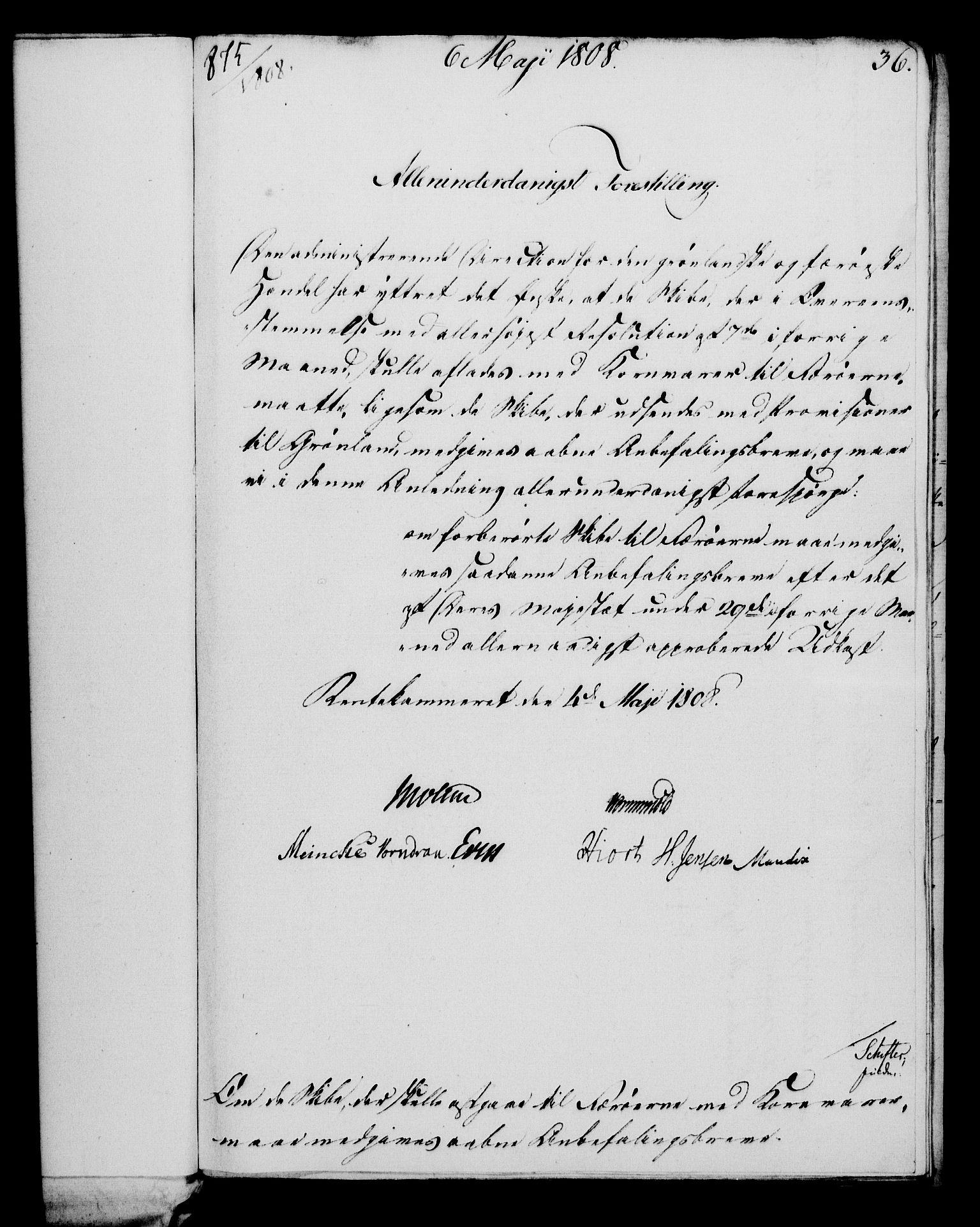 RA, Rentekammeret, Kammerkanselliet, G/Gf/Gfa/L0090: Norsk relasjons- og resolusjonsprotokoll (merket RK 52.90), 1808, s. 208