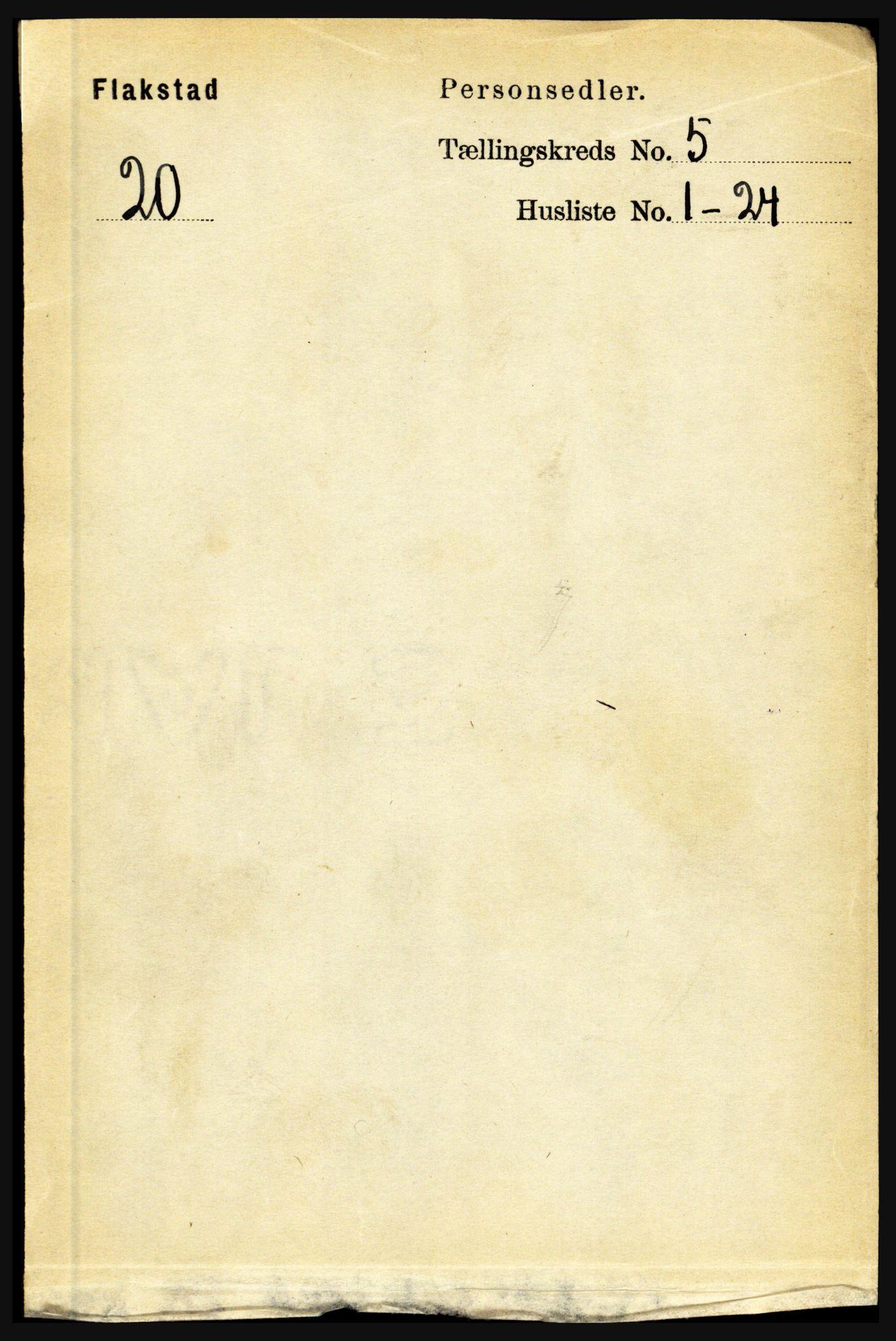 RA, Folketelling 1891 for 1859 Flakstad herred, 1891, s. 2471