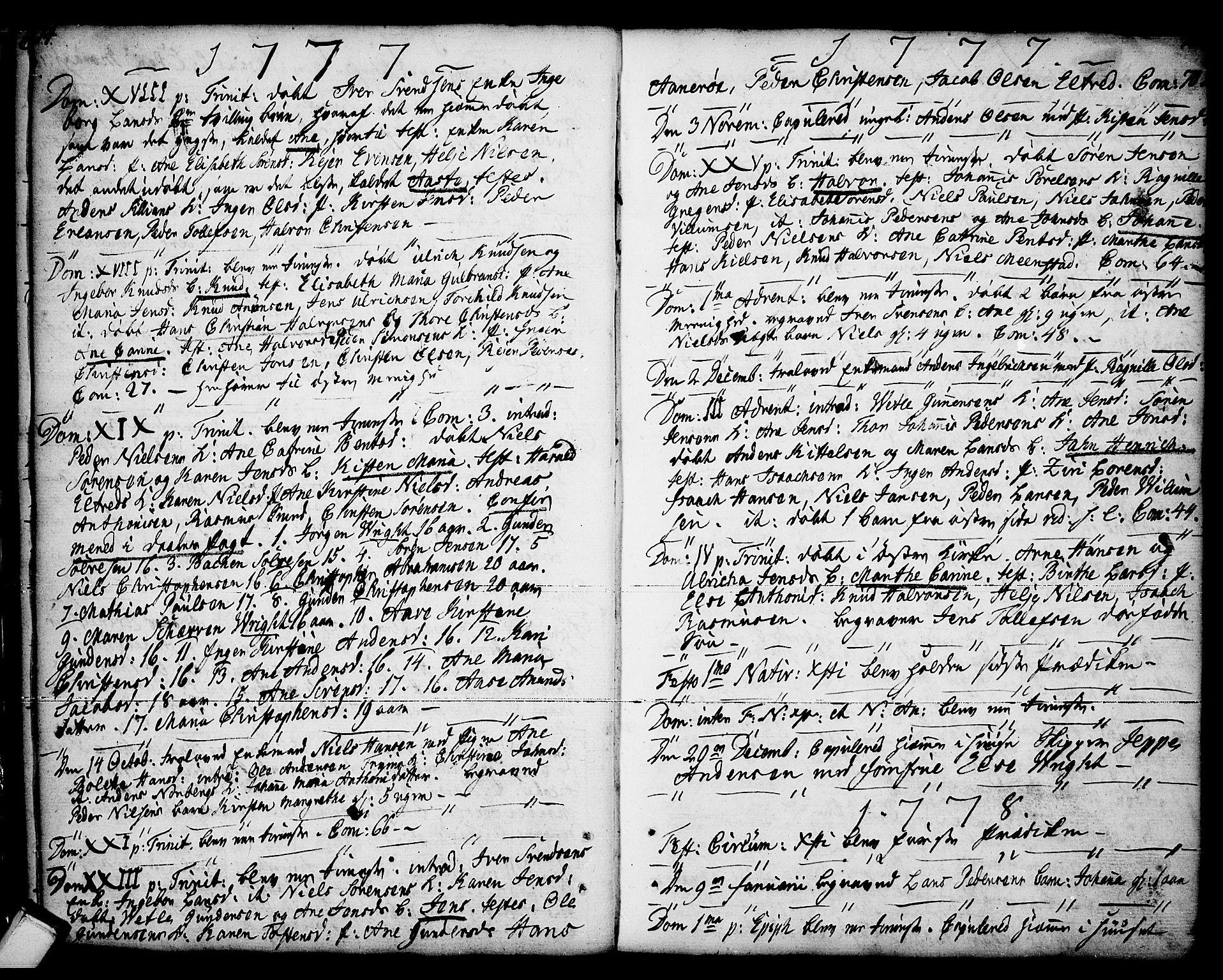 SAKO, Porsgrunn kirkebøker , F/Fa/L0001: Ministerialbok nr. 1, 1764-1814, s. 74-75