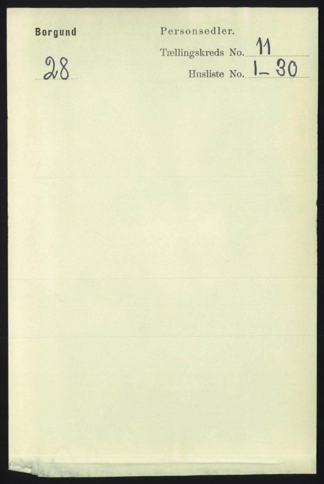 RA, Folketelling 1891 for 1531 Borgund herred, 1891, s. 2753