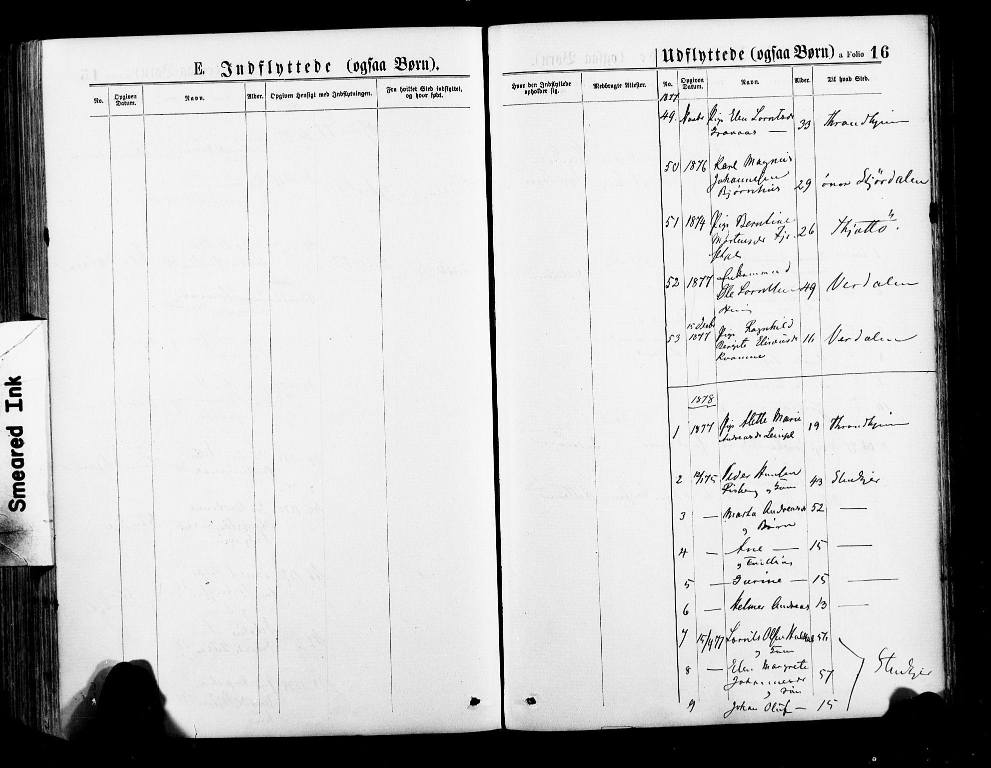 SAT, Ministerialprotokoller, klokkerbøker og fødselsregistre - Nord-Trøndelag, 735/L0348: Ministerialbok nr. 735A09 /1, 1873-1883, s. 16
